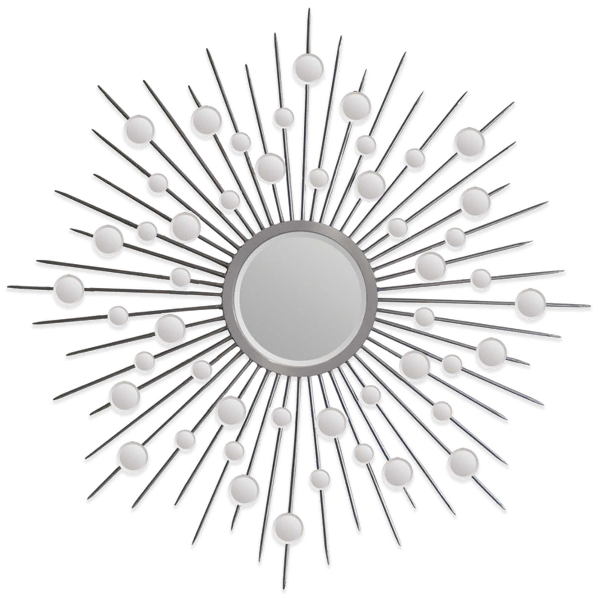 Ren Wil 45 Inch X 45 Inch Starburst Onice Mirror In Silver Within Estrela Modern Sunburst Metal Wall Mirrors (Gallery 22 of 30)