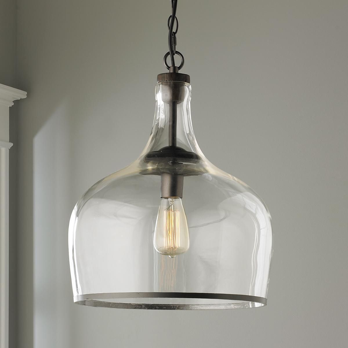 Reproduction Glass Cloche Pendant   Clearly Aiming To Thrill With Wentzville 1 Light Single Bell Pendants (Photo 20 of 30)