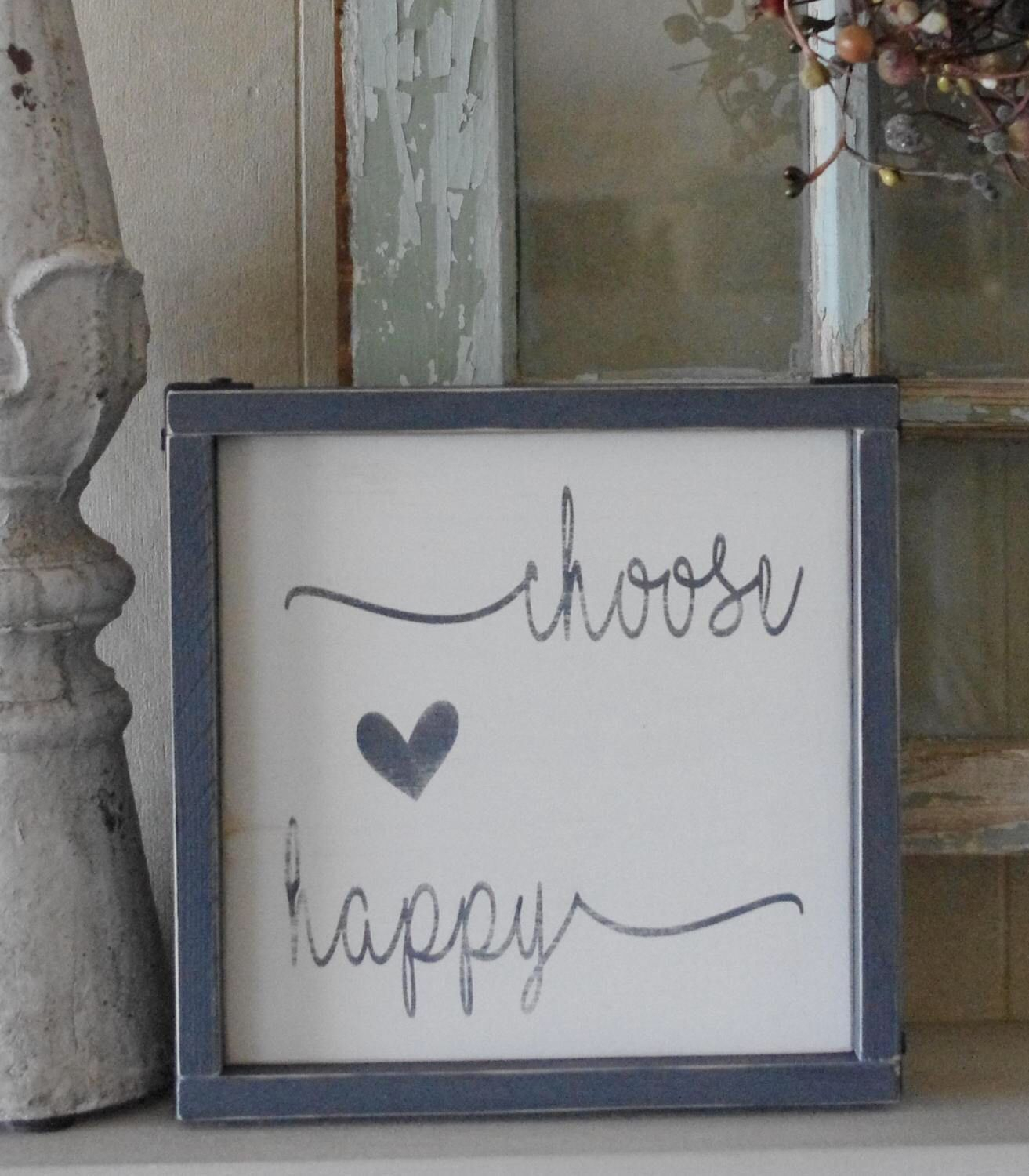 Reserved For Audrey- Wood Sign - Home Decor - Choose Happy with Choose Happy Wood Wall Decor (Image 28 of 30)