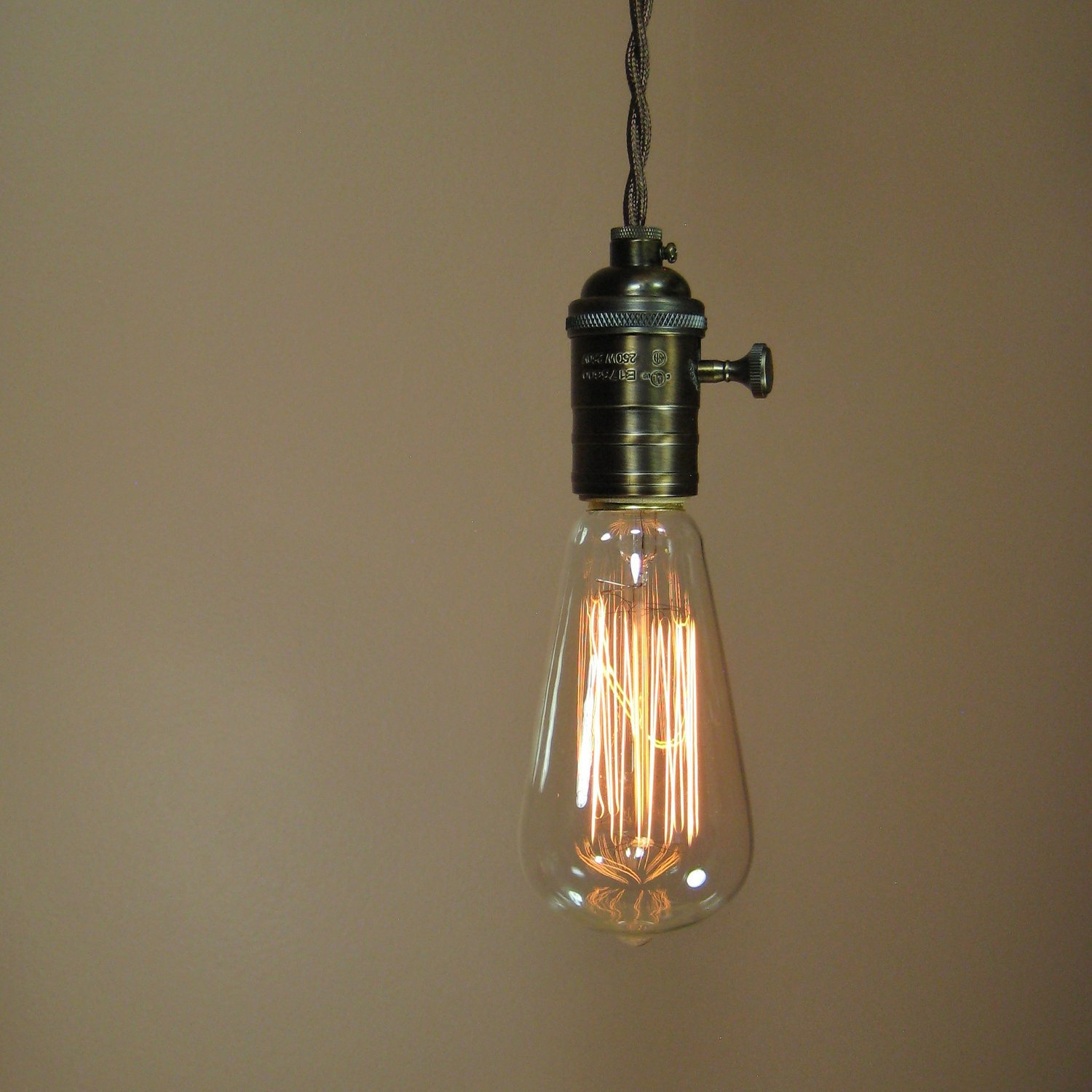 Reserved For Henry Rustic Bare Bulb Pendant Light With For Vintage Edison 1 Light Bowl Pendants (Gallery 25 of 30)