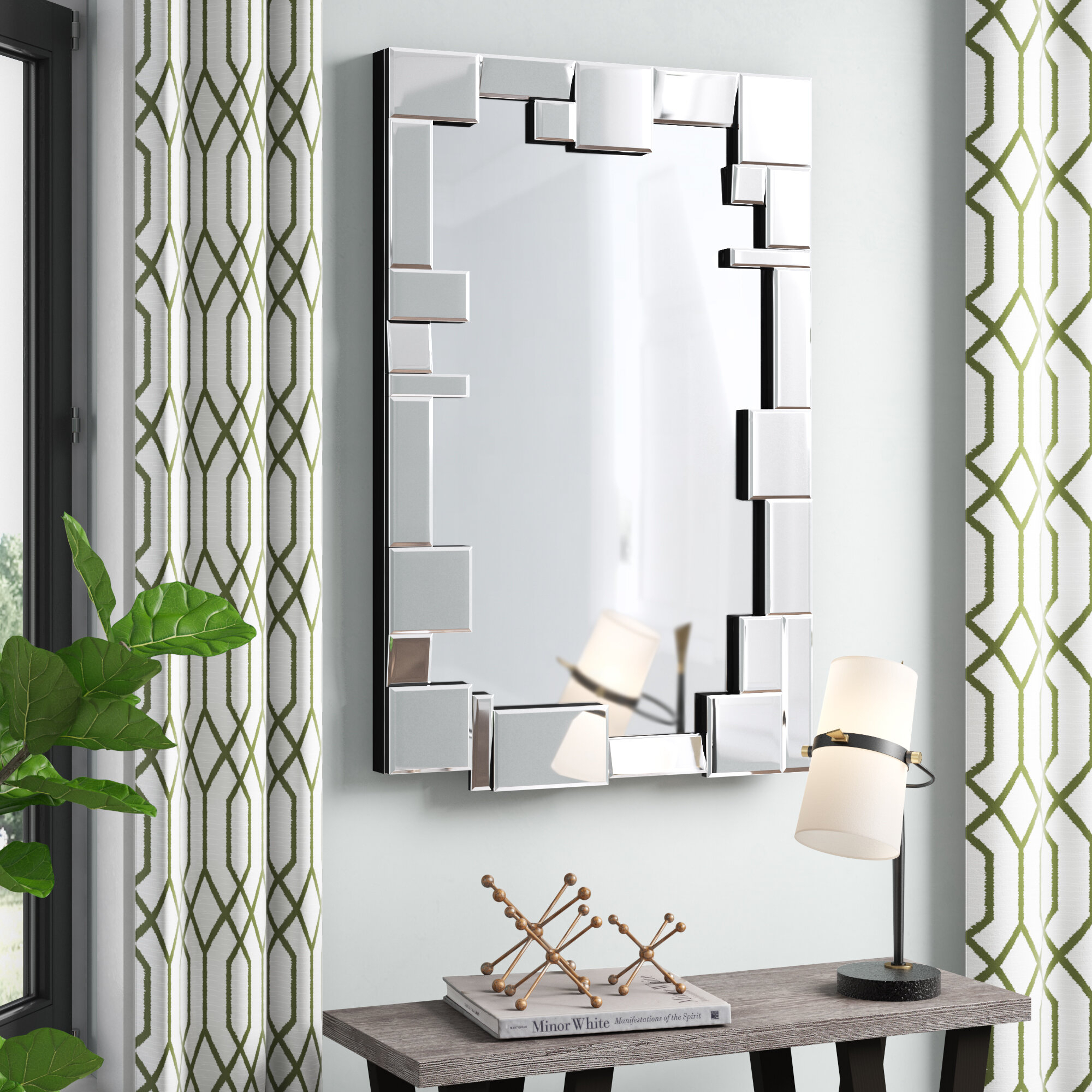 Reshawn Glam Beveled Accent Mirror Intended For Glam Beveled Accent Mirrors (Gallery 15 of 30)