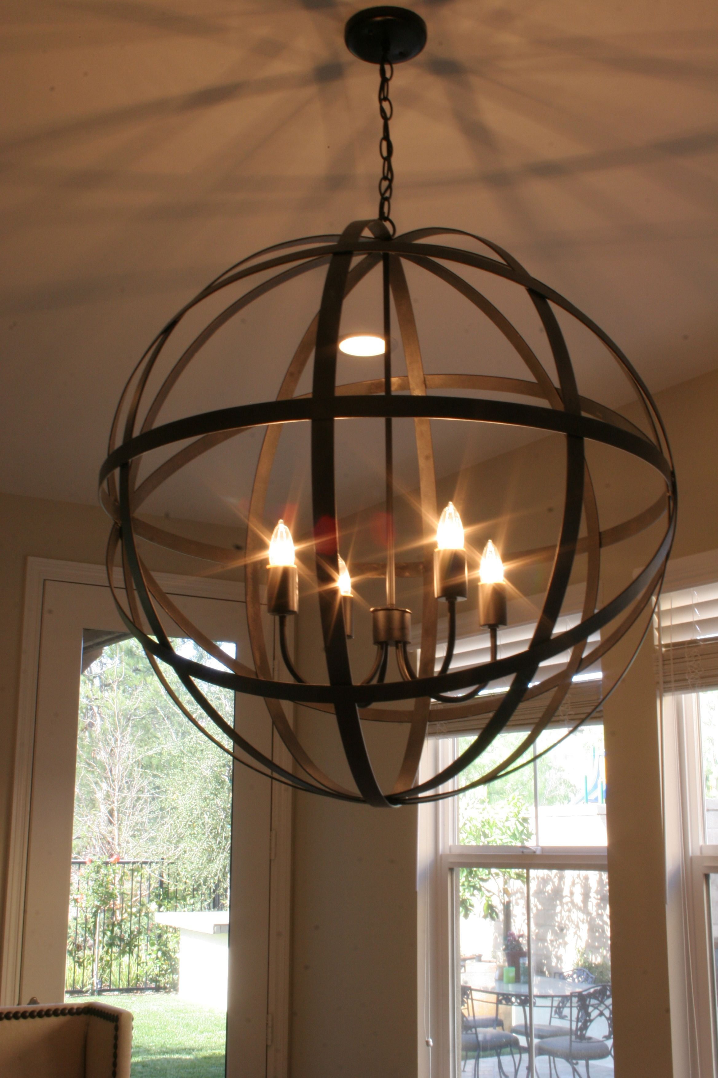 Restoration Hardware Chandelier – Get The Junk Store Guy To For Hewitt 4 Light Square Chandeliers (Gallery 12 of 30)