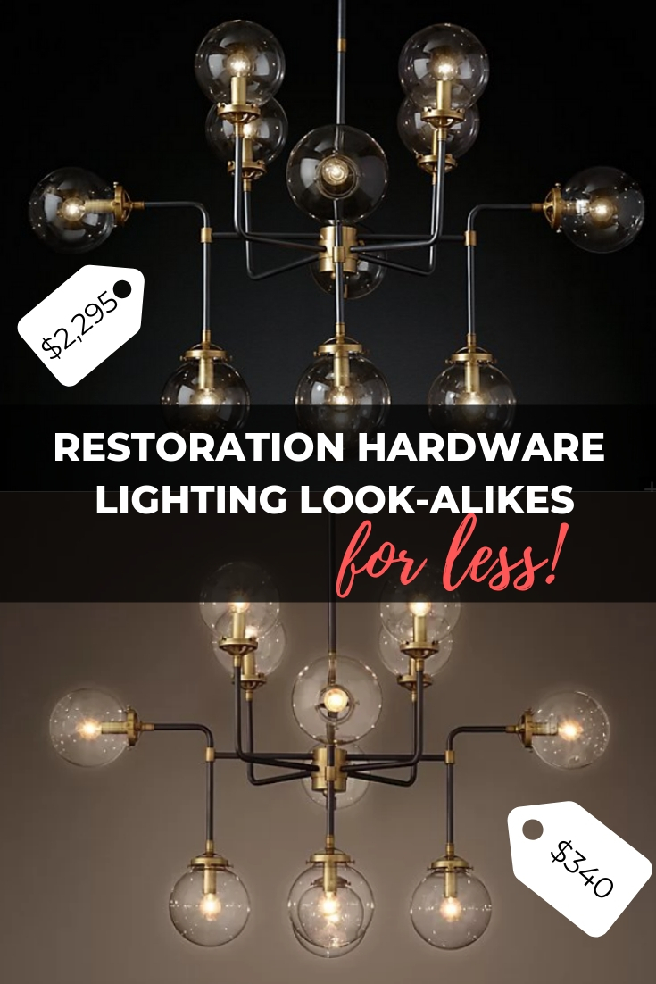 Restoration Hardware Chandelier Look Alikes For Less Within Varnum 4 Light Lantern Pendants (View 23 of 30)