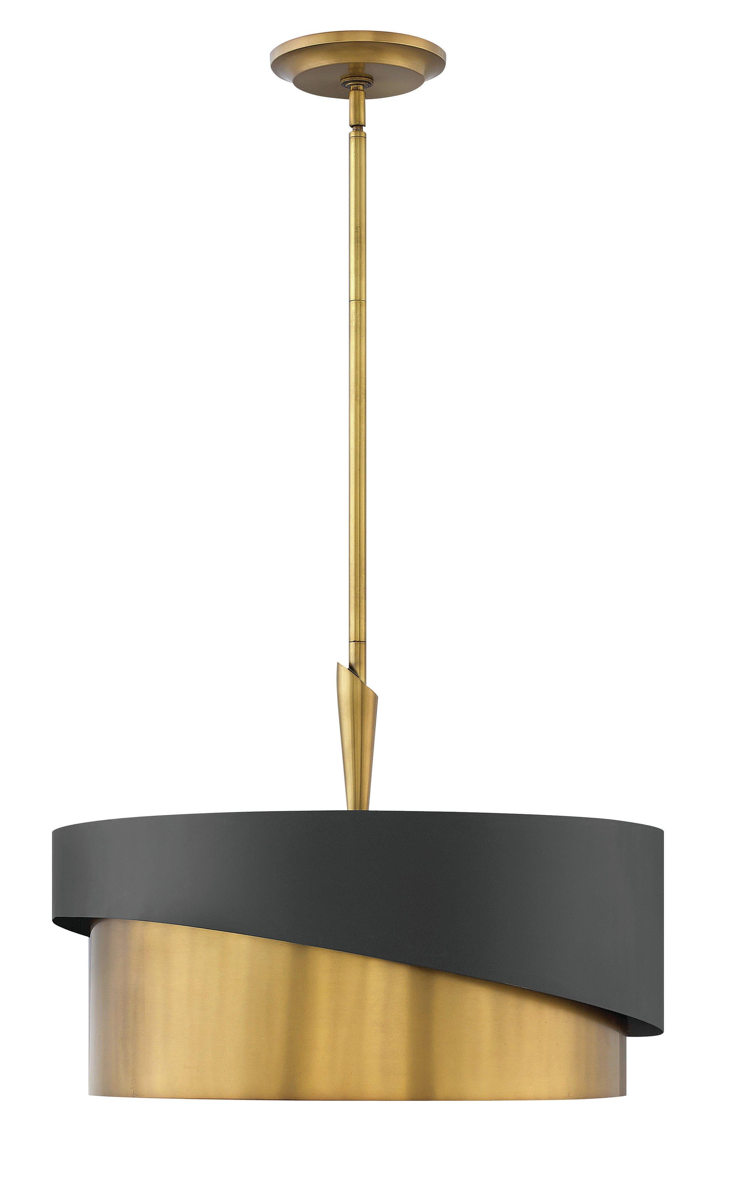 Retzlaff 3-Light Drum Chandelier within Alverez 4-Light Drum Chandeliers (Image 23 of 30)