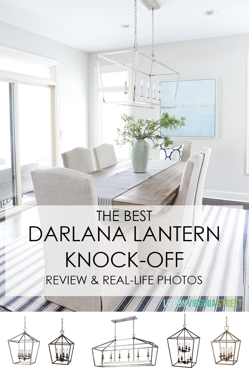 Review Of The Best Knock Off Darlana Pendant Lights – Life Inside Carmen 6 Light Kitchen Island Linear Pendants (View 23 of 30)