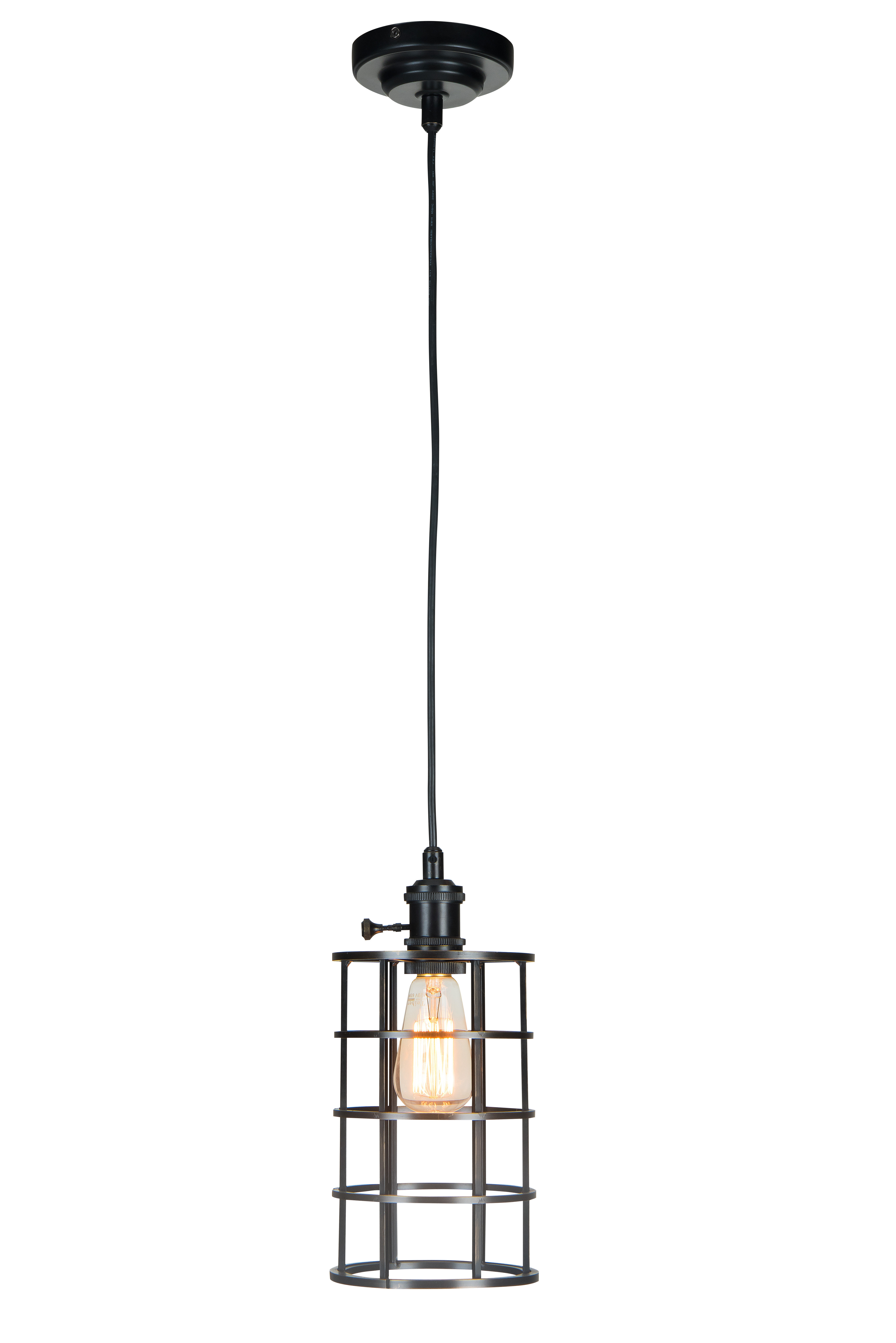 Reybold 1 Light Single Cylinder Pendant Pertaining To Barrons 1 Light Single Cylinder Pendants (Gallery 5 of 30)