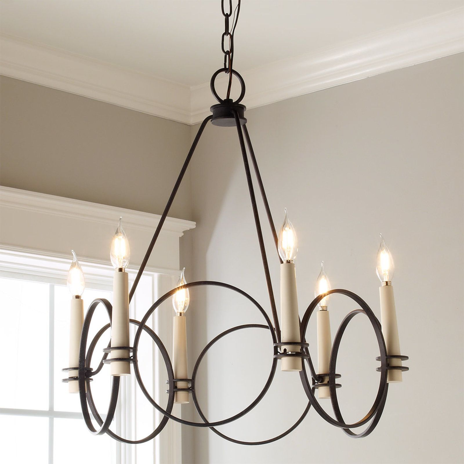 Ring Around Chandelier – 6 Light | Let There Be Light Pertaining To Lynn 6 Light Geometric Chandeliers (Gallery 29 of 30)