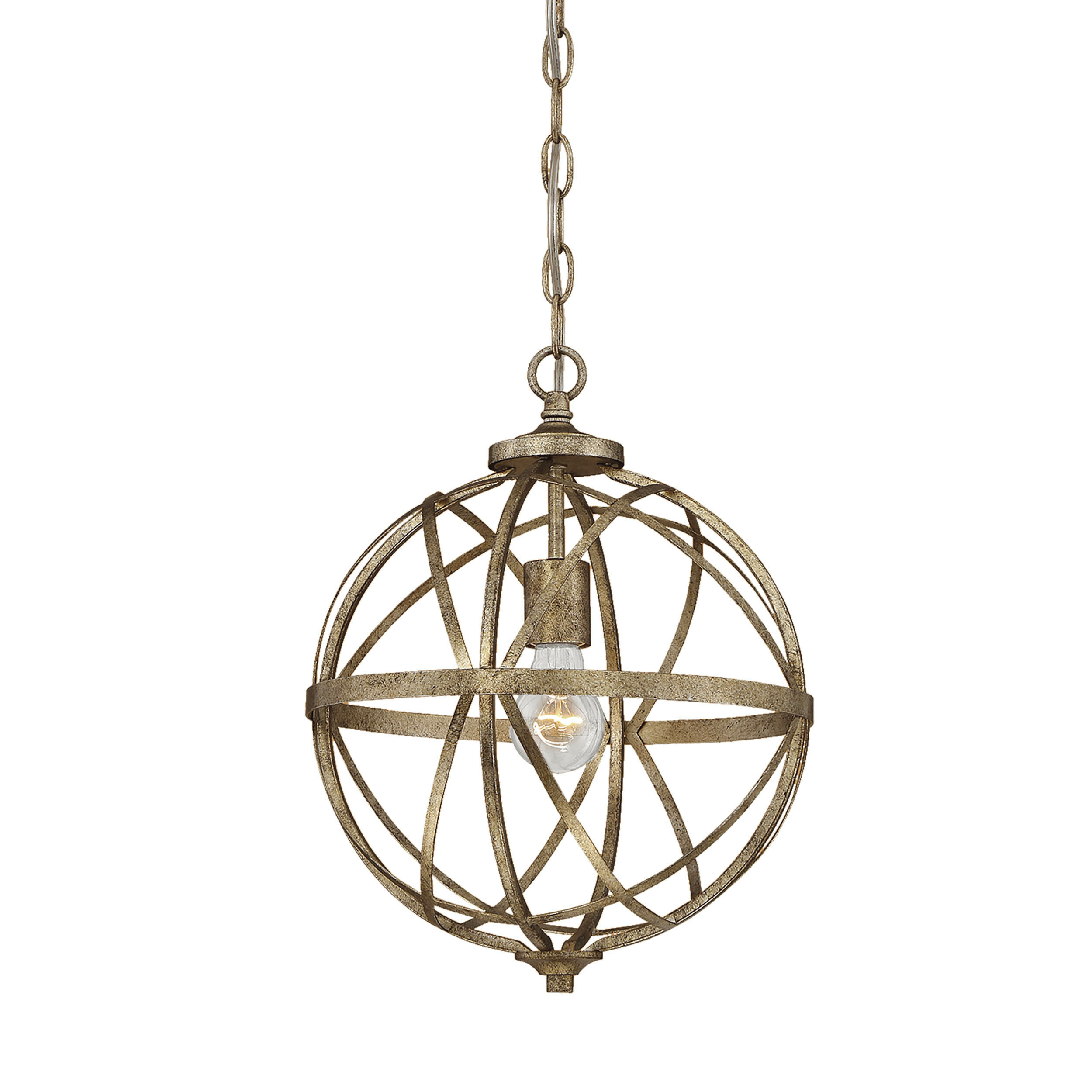 Rodden 1 Light Single Globe Pendant Pertaining To Adcock 3 Light Single Globe Pendants (Gallery 10 of 30)