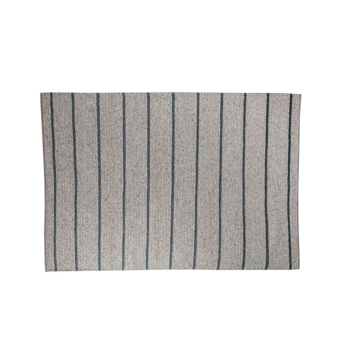 Romain Stripe Floor Rug 160 X 230Cm Beige & Blue Pertaining To Romain Accent Mirrors (Photo 28 of 30)