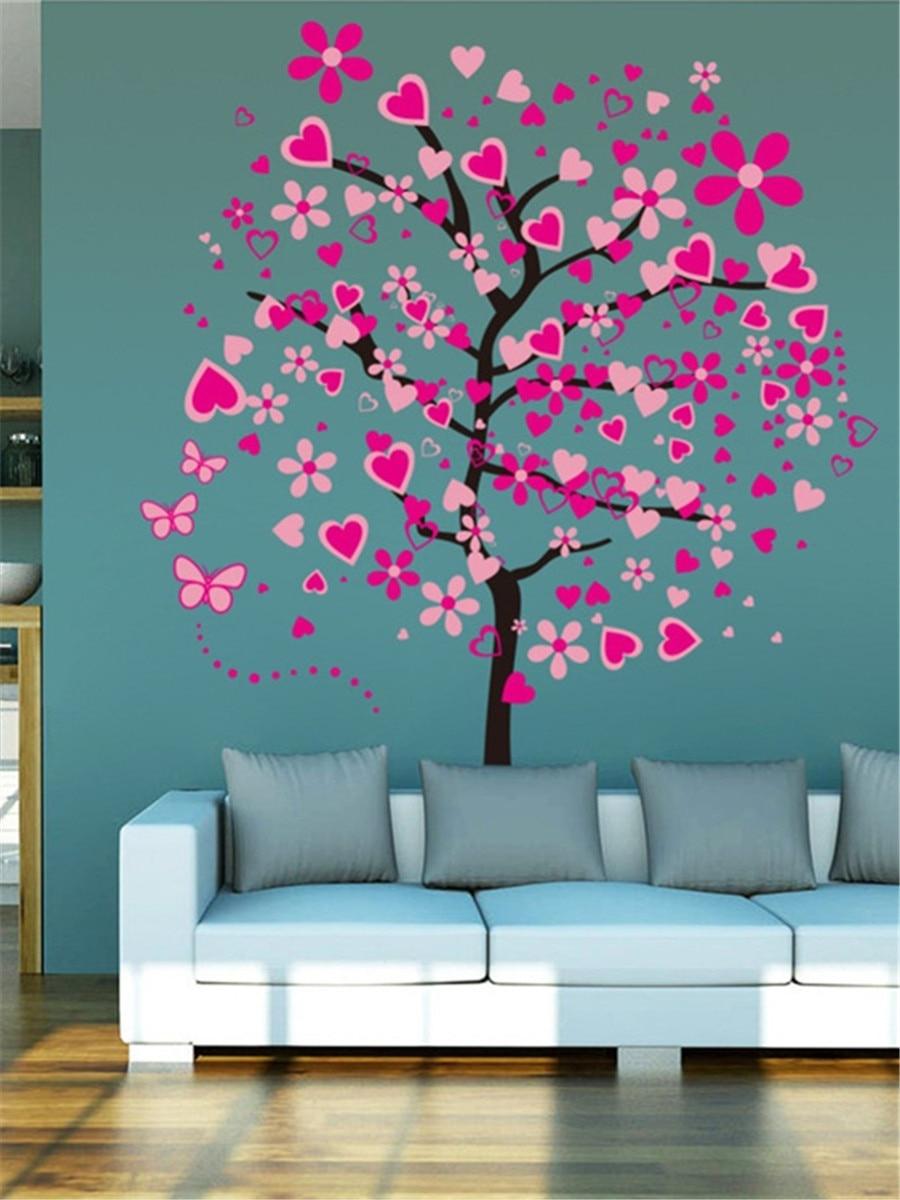 Romantic Tree Wall Stickers Bedroom Hallway Wall Decor Pvc Umweltplakette Regarding Tree Wall Decor (Gallery 23 of 30)
