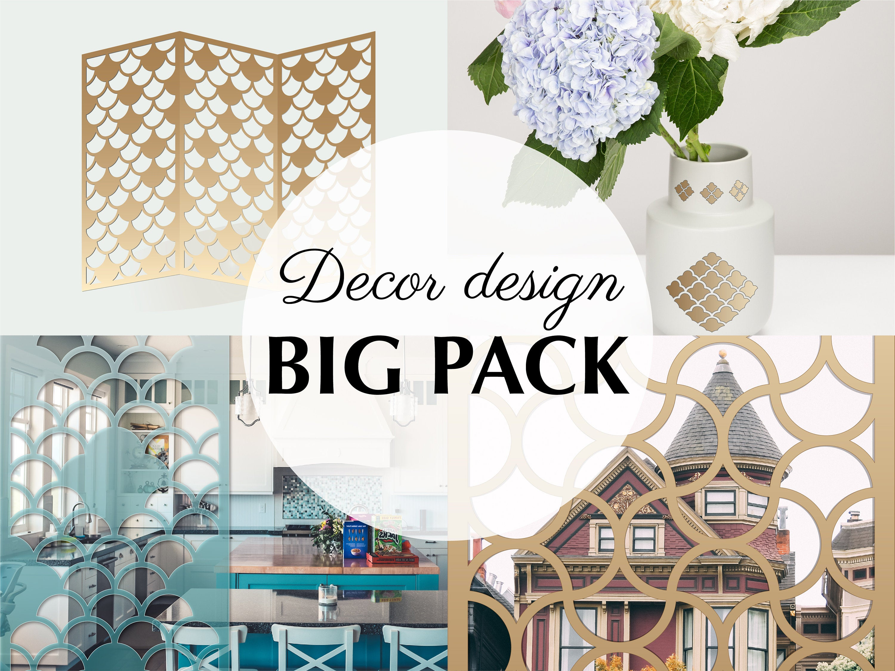 Room Divider Privacy Screen Door Decor Home Rustic Wall Decor Wedding  Patterns Wall Stencil Islamic Wall Art Laser Cut Svg Files For Cricut Pertaining To Floral Patterned Over The Door Wall Decor (Gallery 9 of 30)