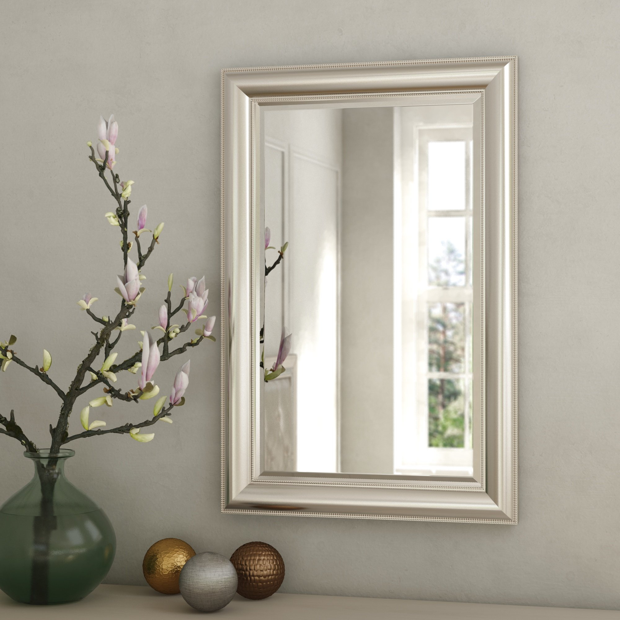 Rosdorf Park Beaded Accent Mirror & Reviews | Wayfair With Regard To Lake Park Beveled Beaded Accent Wall Mirrors (Gallery 8 of 30)