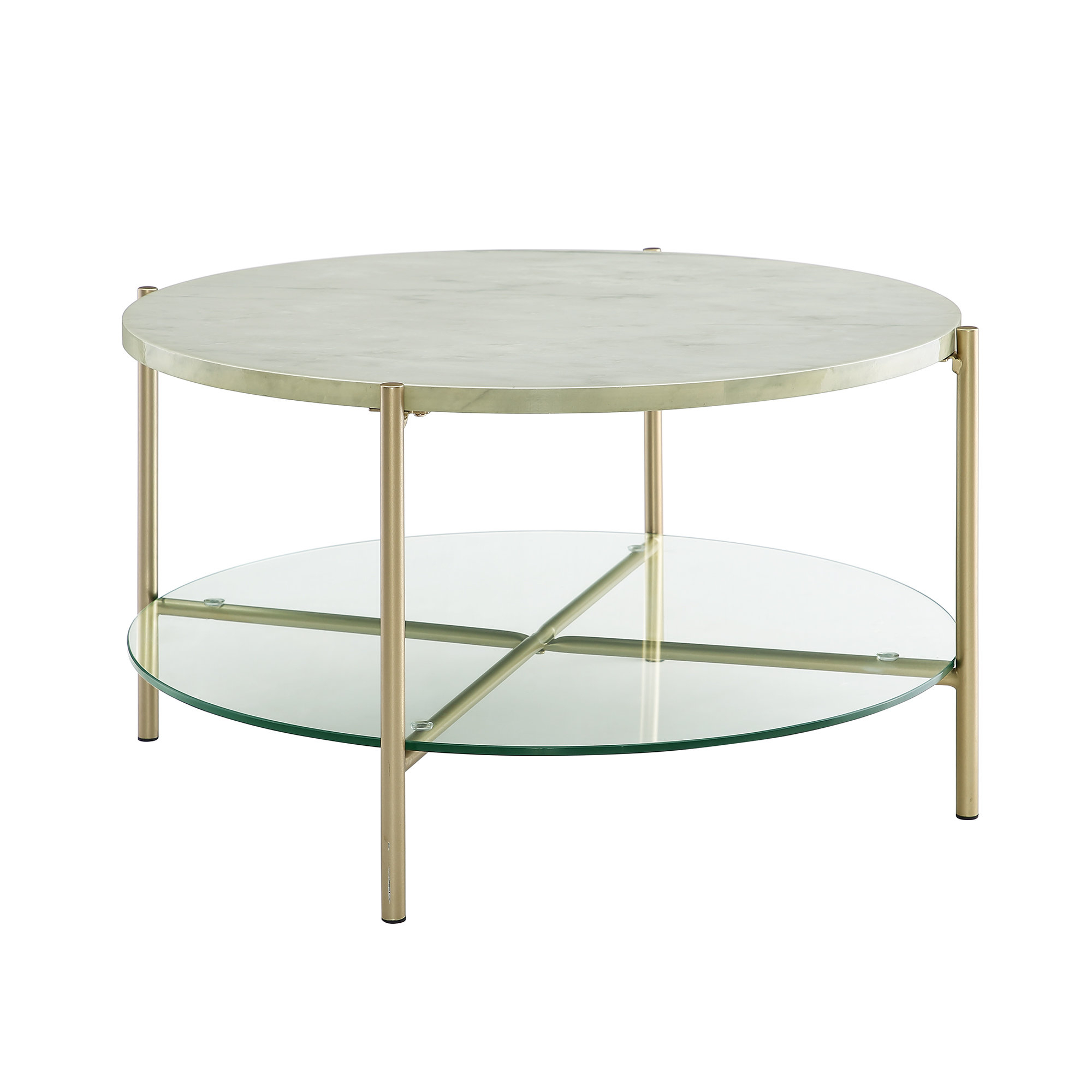 Rose Gold Marble Coffee Table | Wayfair With Robblee 4 Light Geometric Pendants (Gallery 22 of 30)