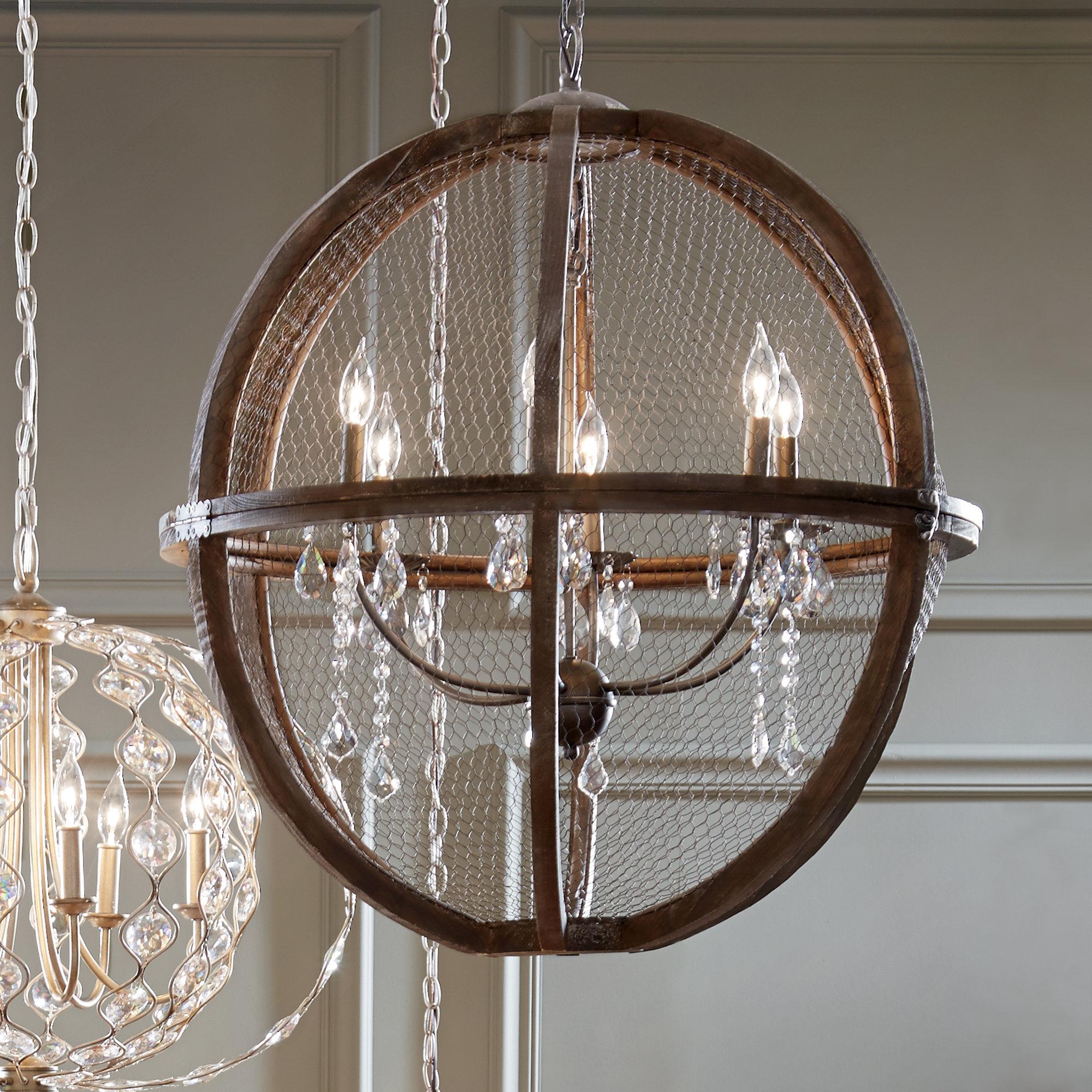 Rosemont 6 Light Globe Chandelier Pertaining To Alden 6 Light Globe Chandeliers (View 18 of 30)