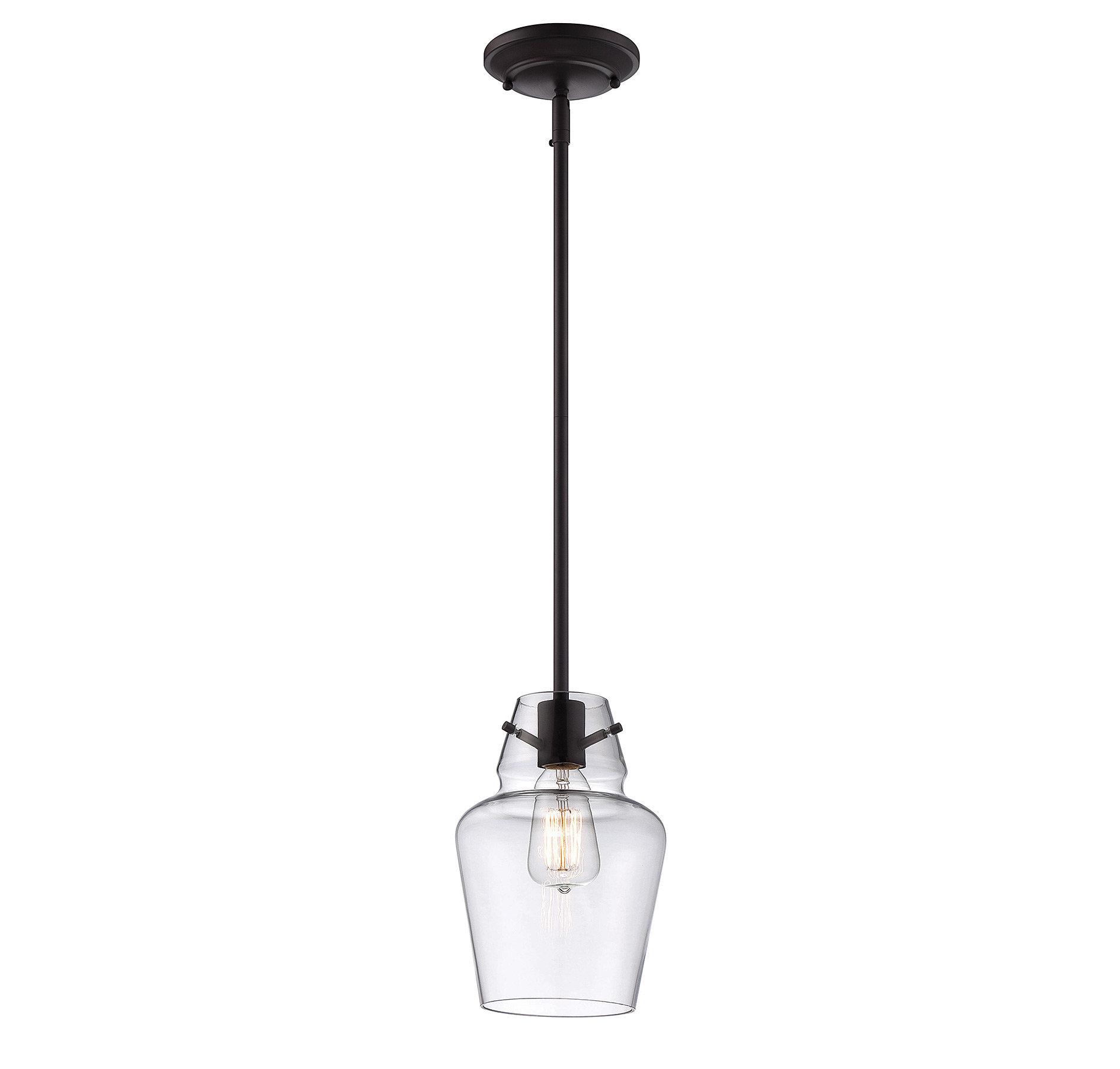 Roslindale 1 Light Single Bell Pendant Pertaining To Erico 1 Light Single Bell Pendants (View 7 of 30)