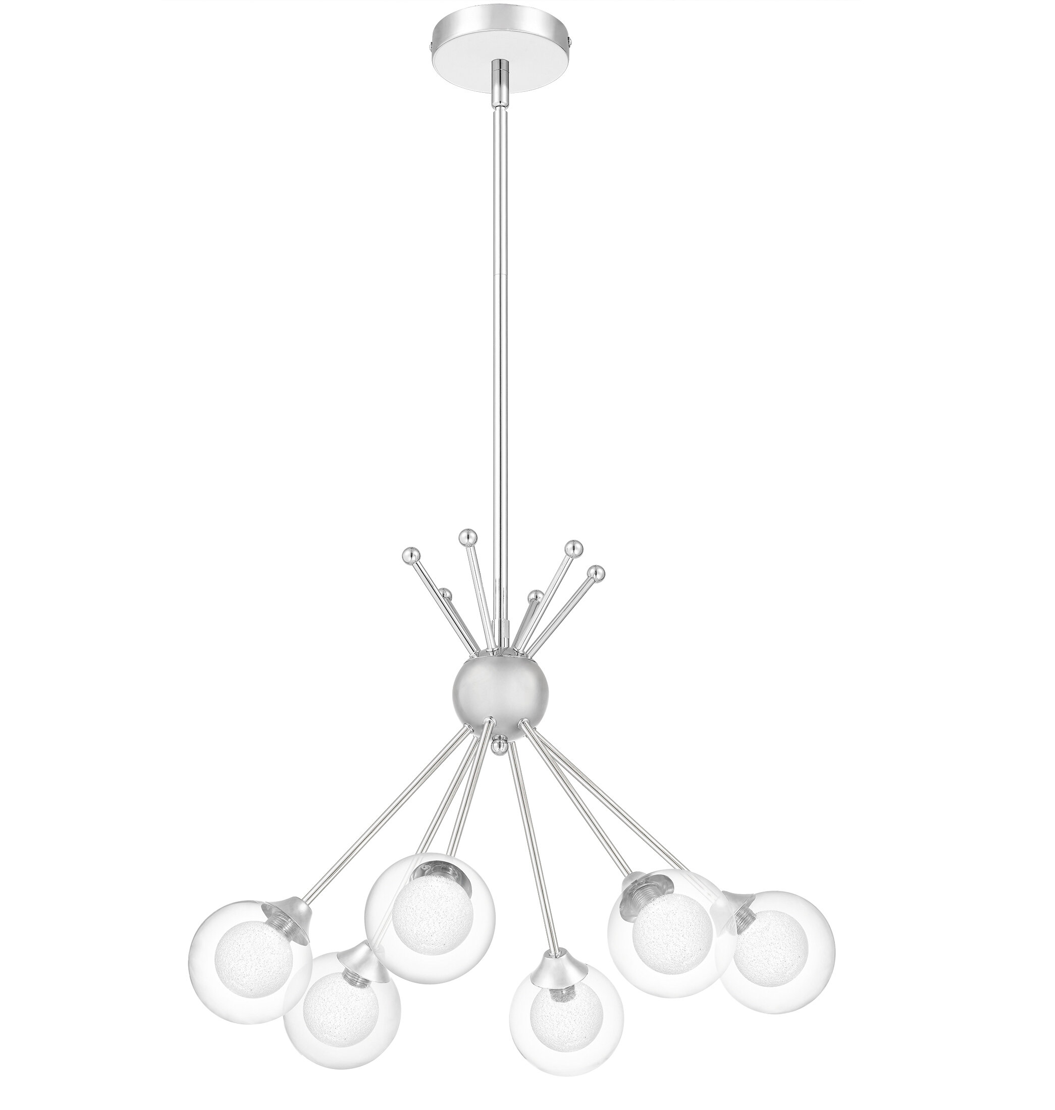 Rossana 6 Light Sputnik Chandelier Within Silvia 6 Light Sputnik Chandeliers (Gallery 16 of 30)