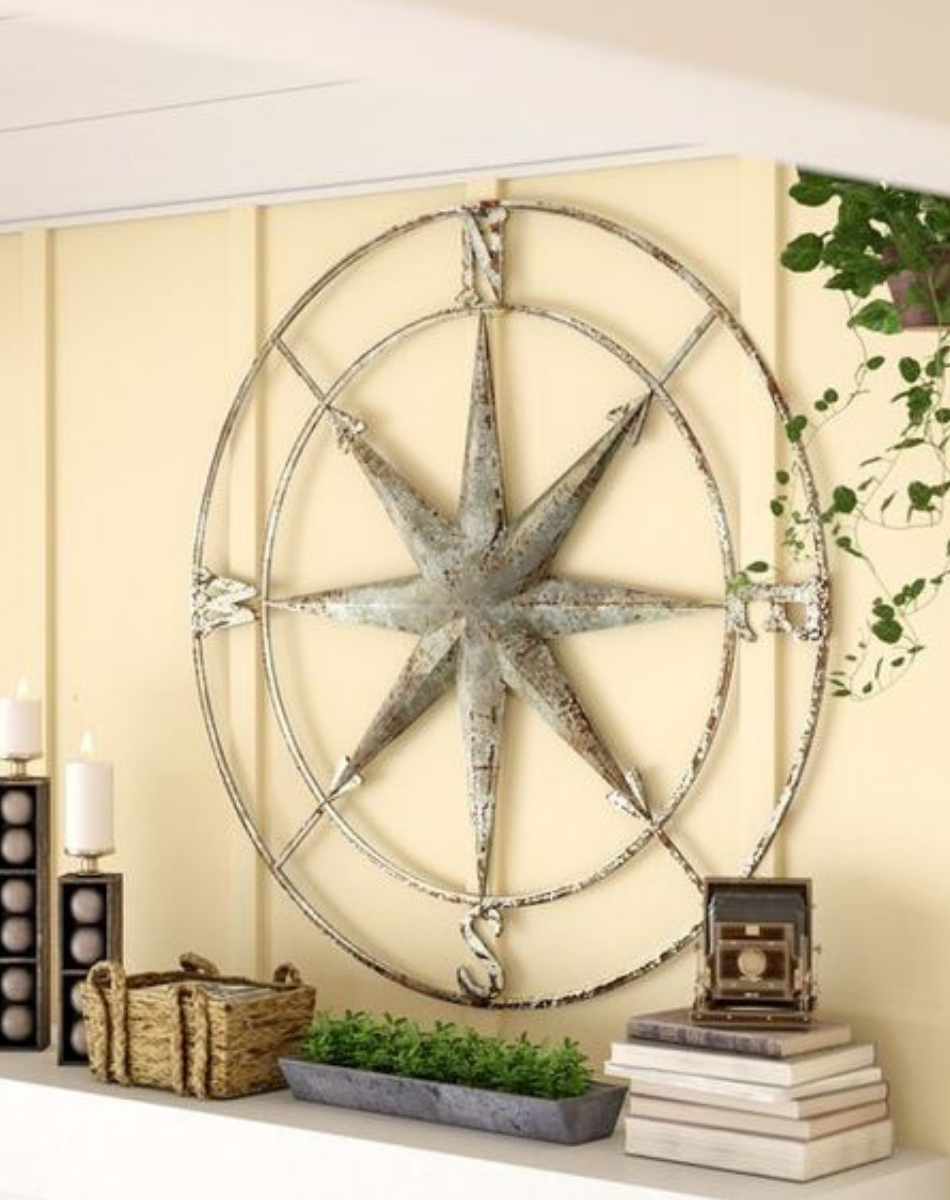 Round Compass Wall Décor #affiliate #compass #wallart With Regard To Round Compass Wall Decor (Gallery 6 of 30)