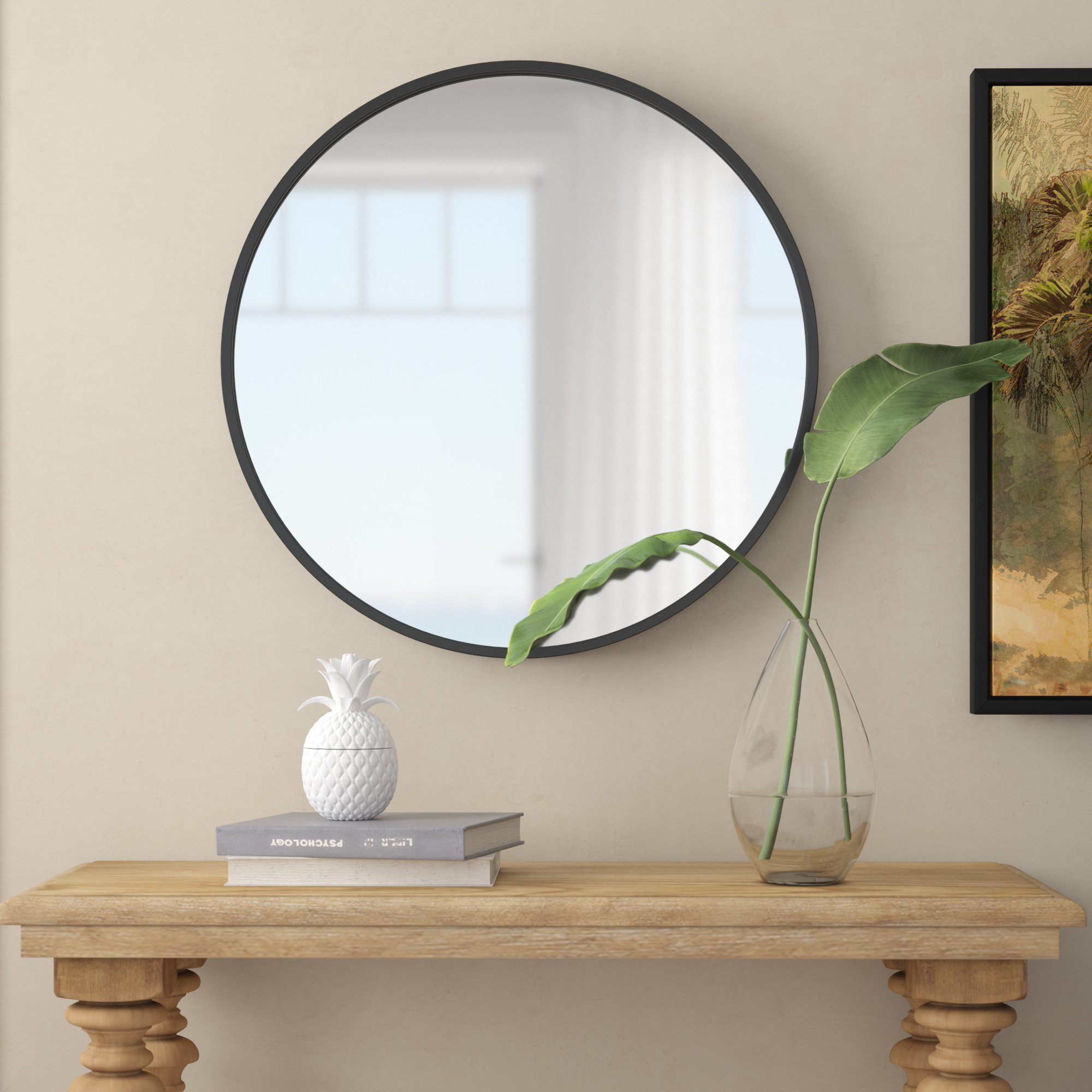 Round Crystal Wall Mirror | Wayfair With Regard To Tata Openwork Round Wall Mirrors (Gallery 27 of 30)