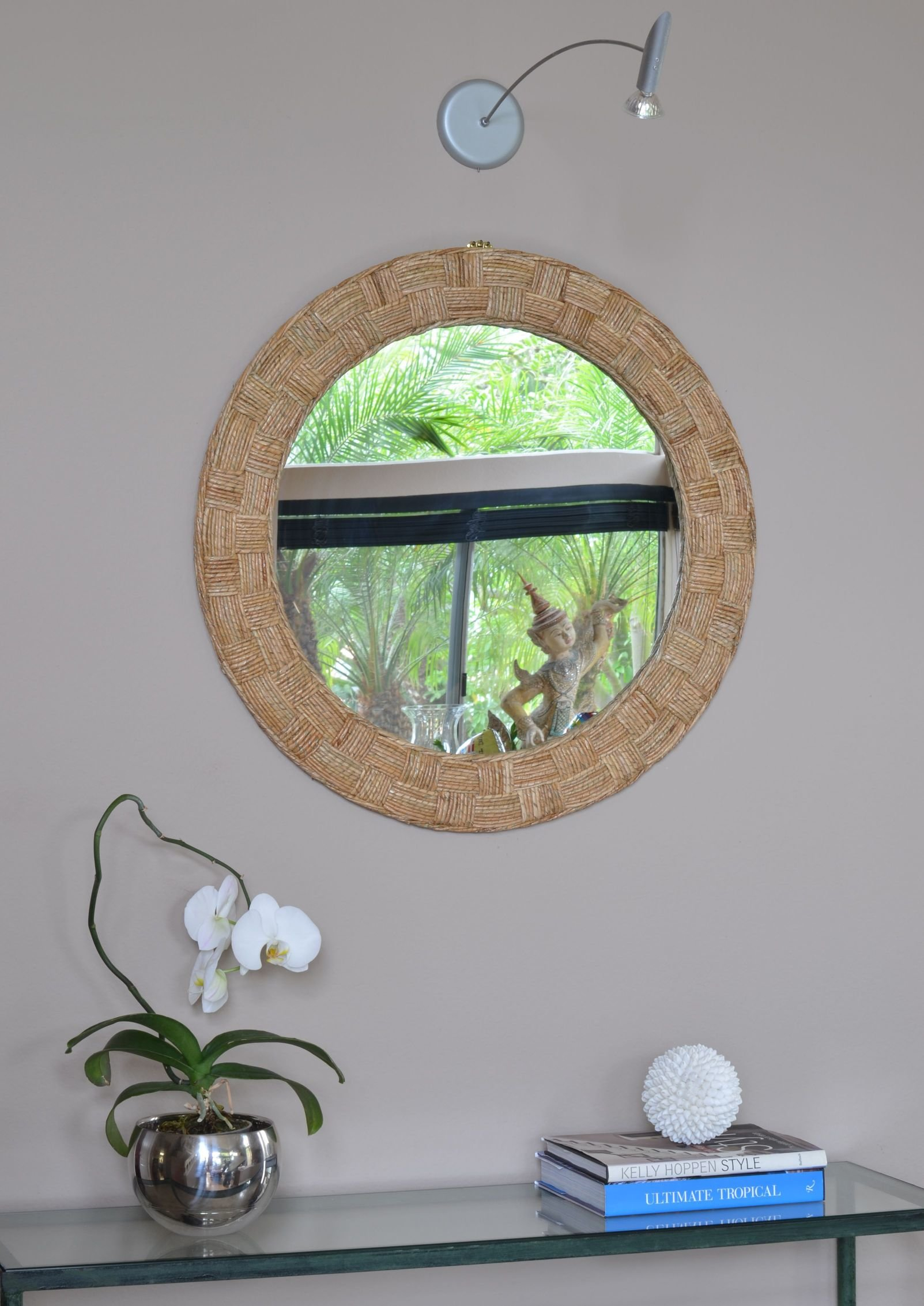Round Crystal Wall Mirror | Wayfair within Kentwood Round Wall Mirrors (Image 23 of 30)