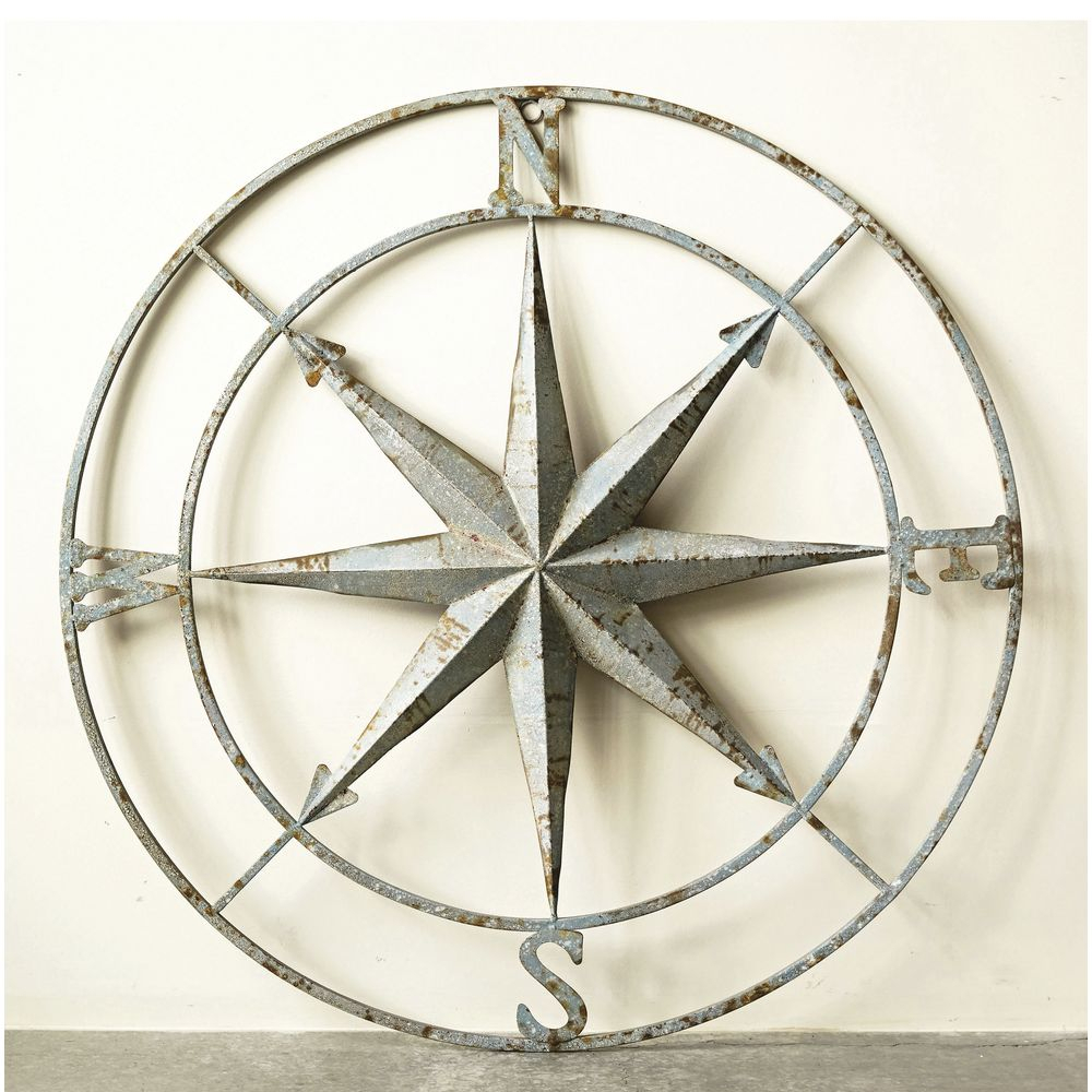 Featured Photo of Round Compass Wall Decor