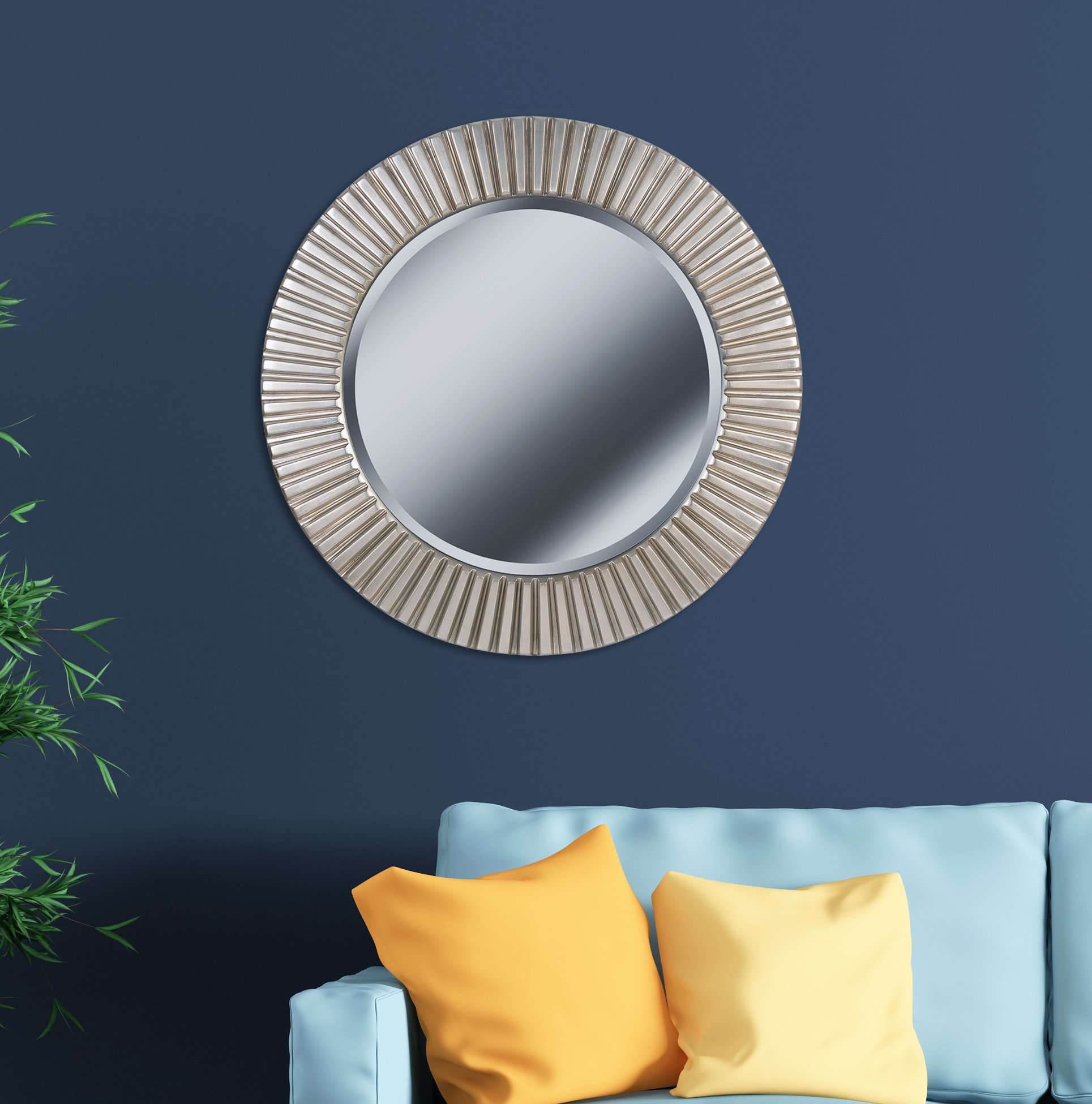 Round Eclectic Accent Mirror With Round Eclectic Accent Mirrors (View 3 of 30)