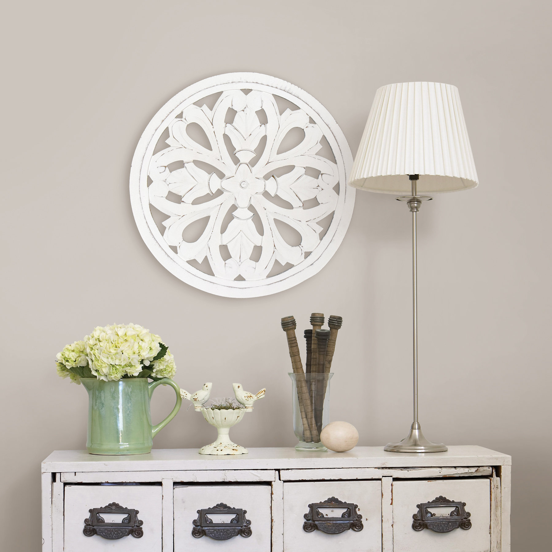 Round Medallion Wall Decor | Wayfair within Small Medallion Wall Decor (Image 16 of 30)