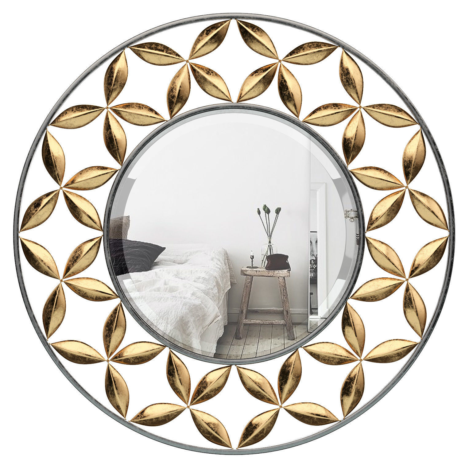 Round Metal Wall Mirror Astg7285 | 3D Model with Kentwood Round Wall Mirrors (Image 25 of 30)