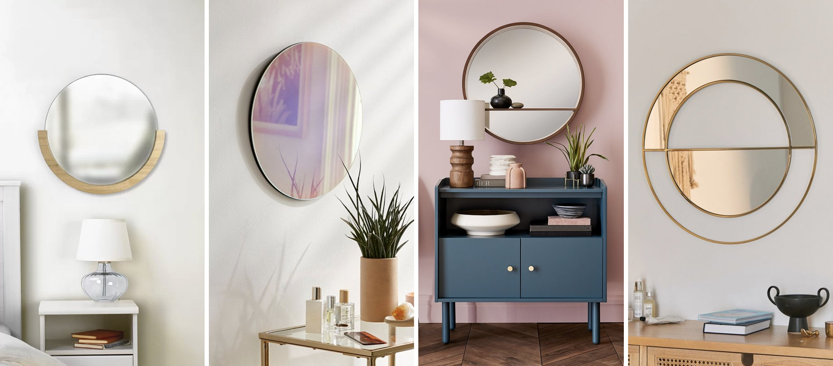 Round Mirrors For Wall Decor In The Home | Brit + Co regarding Rhein Accent Mirrors (Image 27 of 30)