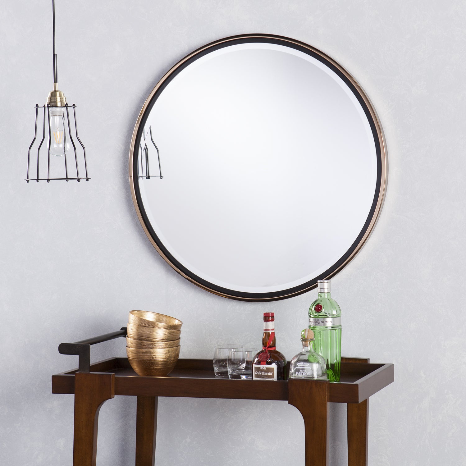 Round Mirrors | Shop Online At Overstock for Yedinak Modern Distressed Accent Mirrors (Image 19 of 30)