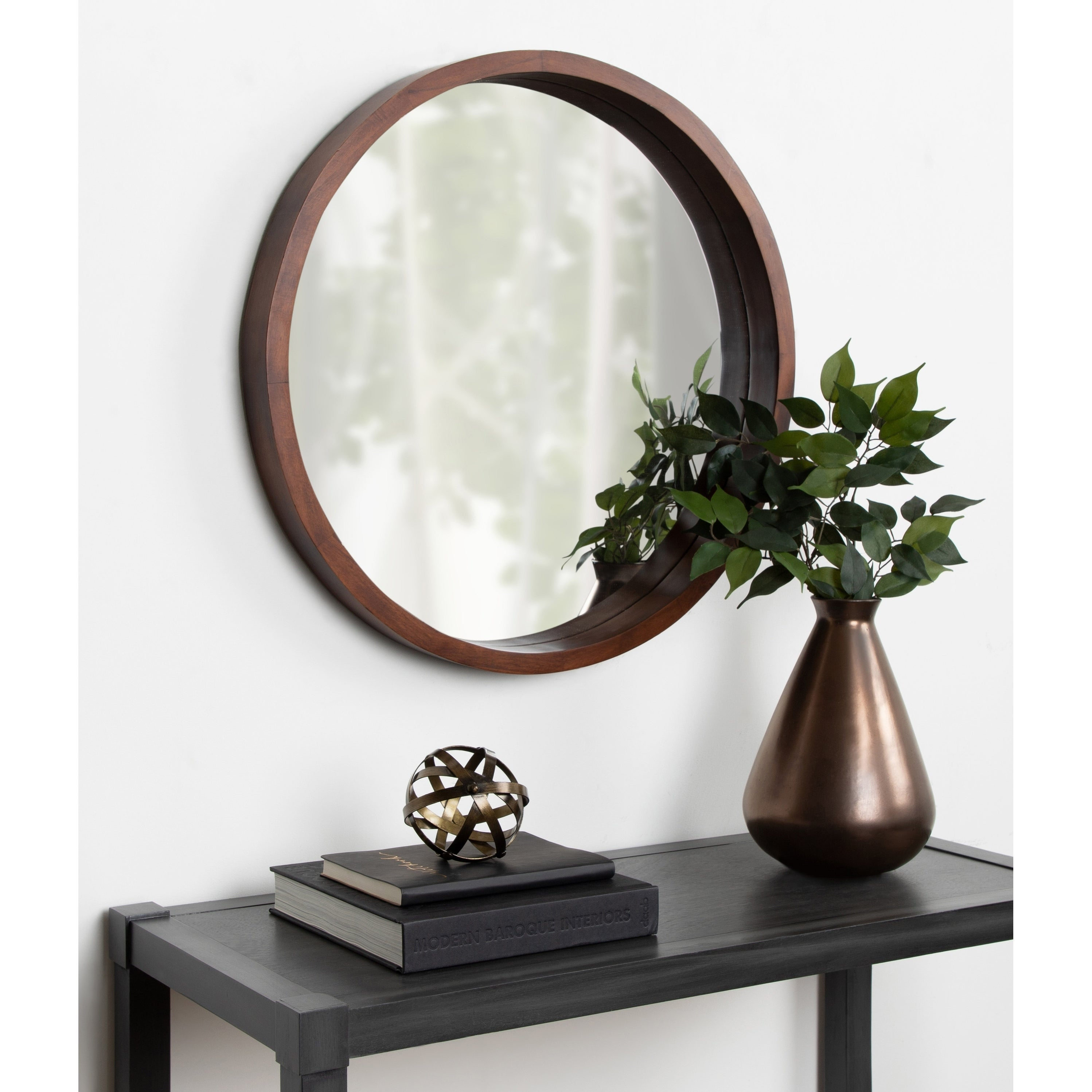 Round Mirrors | Shop Online At Overstock in Yedinak Modern Distressed Accent Mirrors (Image 20 of 30)