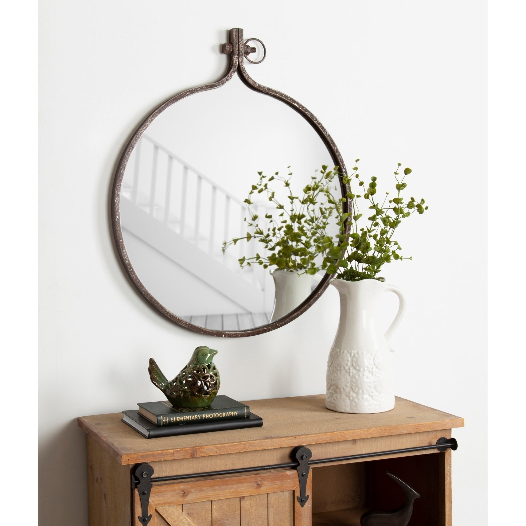 Round Mirrors | Shop Online At Overstock with Yedinak Modern Distressed Accent Mirrors (Image 22 of 30)