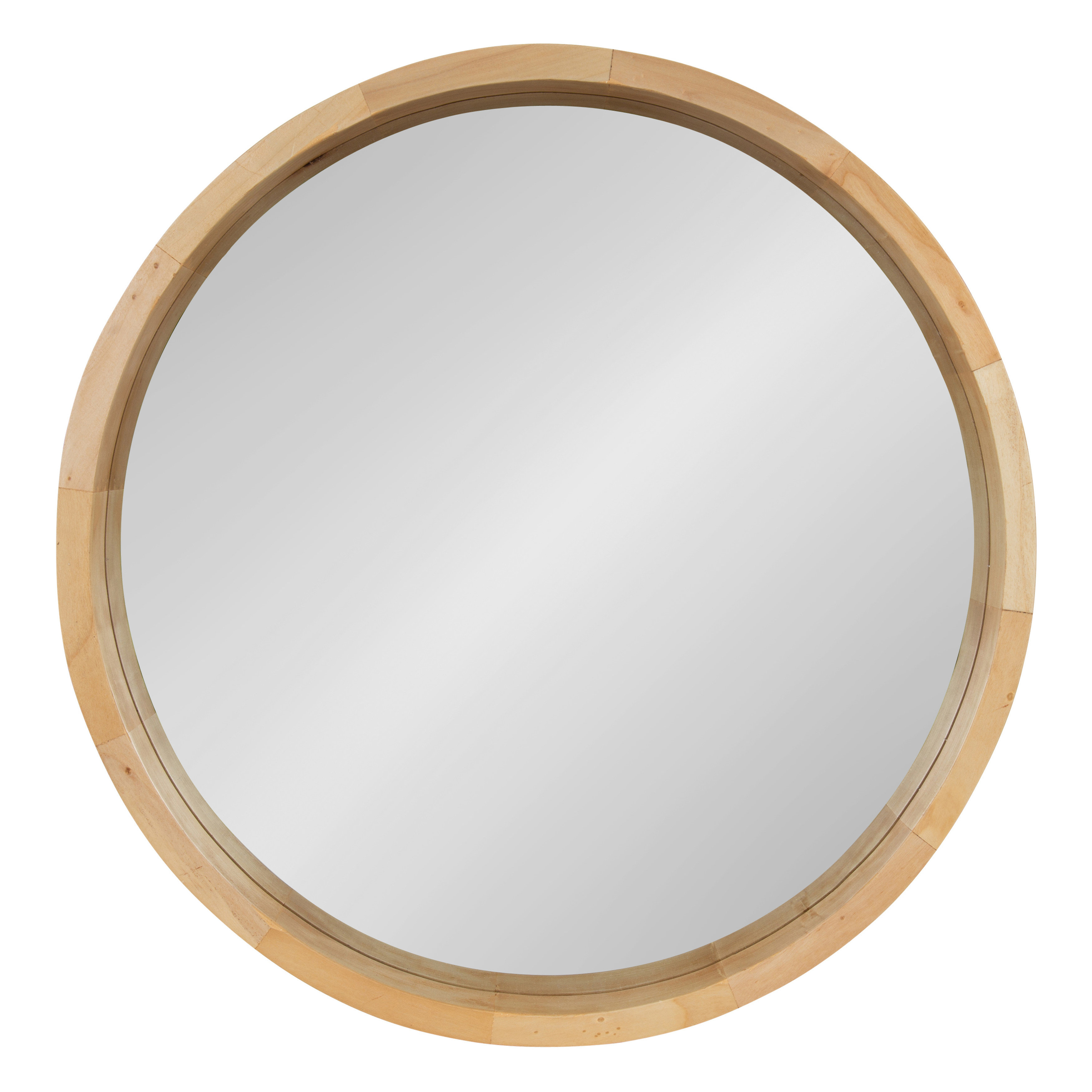 Round Natural Wood Mirror | Wayfair With Oval Wood Wall Mirrors (Gallery 5 of 30)