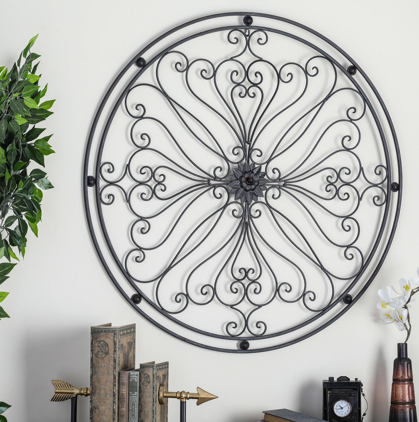 Round Wall Decor Set | Wayfair Throughout Contemporary Abstract Round Wall Decor (Gallery 4 of 30)