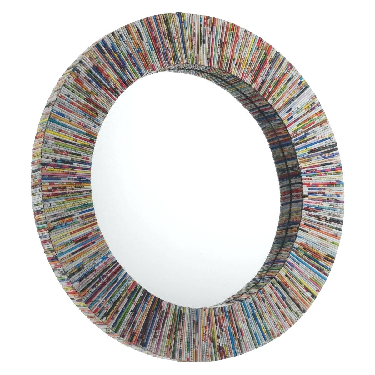 Round Wall Mirror Multi Faceted Art Mirror Framed Round Wall in Kentwood Round Wall Mirrors (Image 26 of 30)