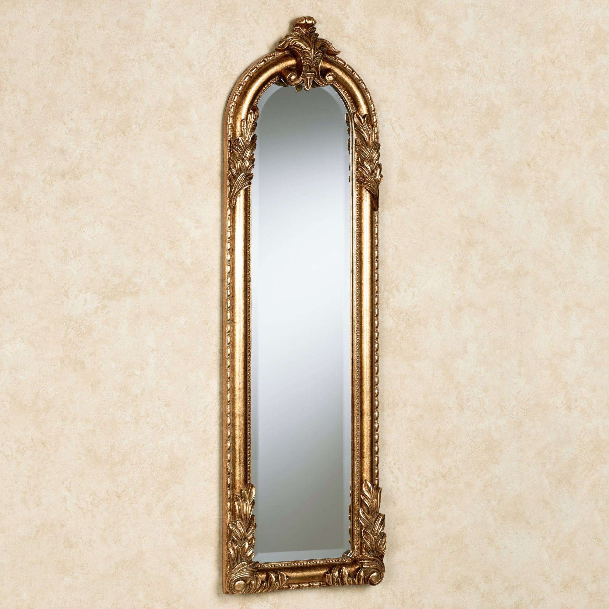 Royal Acanthus Gold Arched Wall Mirror Intended For Gold Arch Wall Mirrors (View 25 of 30)