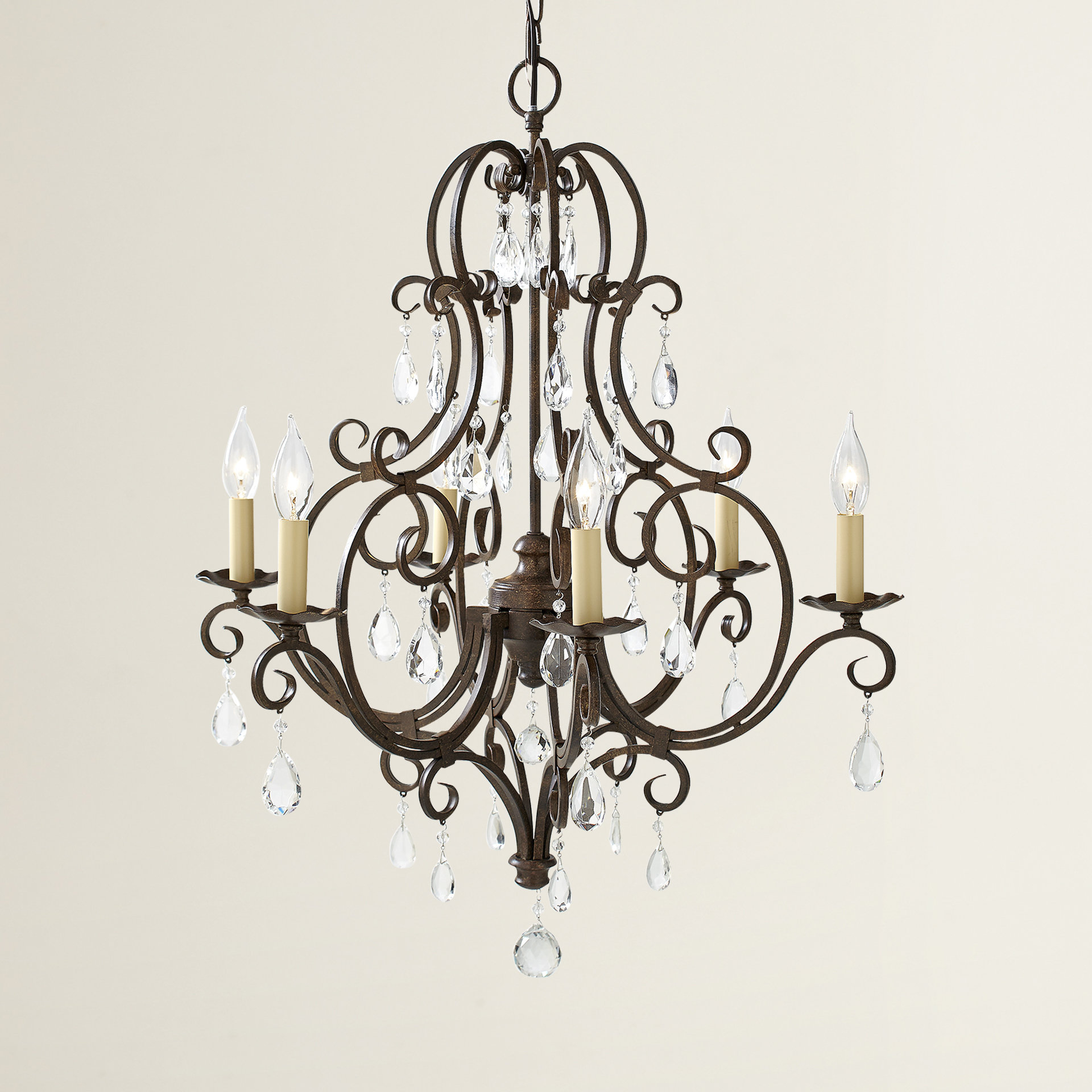 Royall 6 Light Candle Style Chandelier Pertaining To Armande Candle Style Chandeliers (Image 26 of 30)