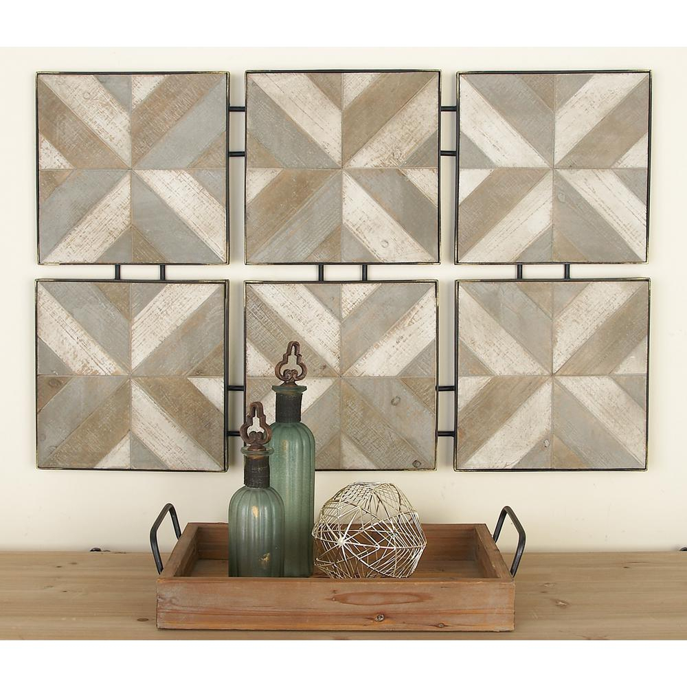 Rustic Brown Wooden And Metal Herringbone Panel Wall Decor pertaining to Brown Wood and Metal Wall Decor (Image 17 of 30)
