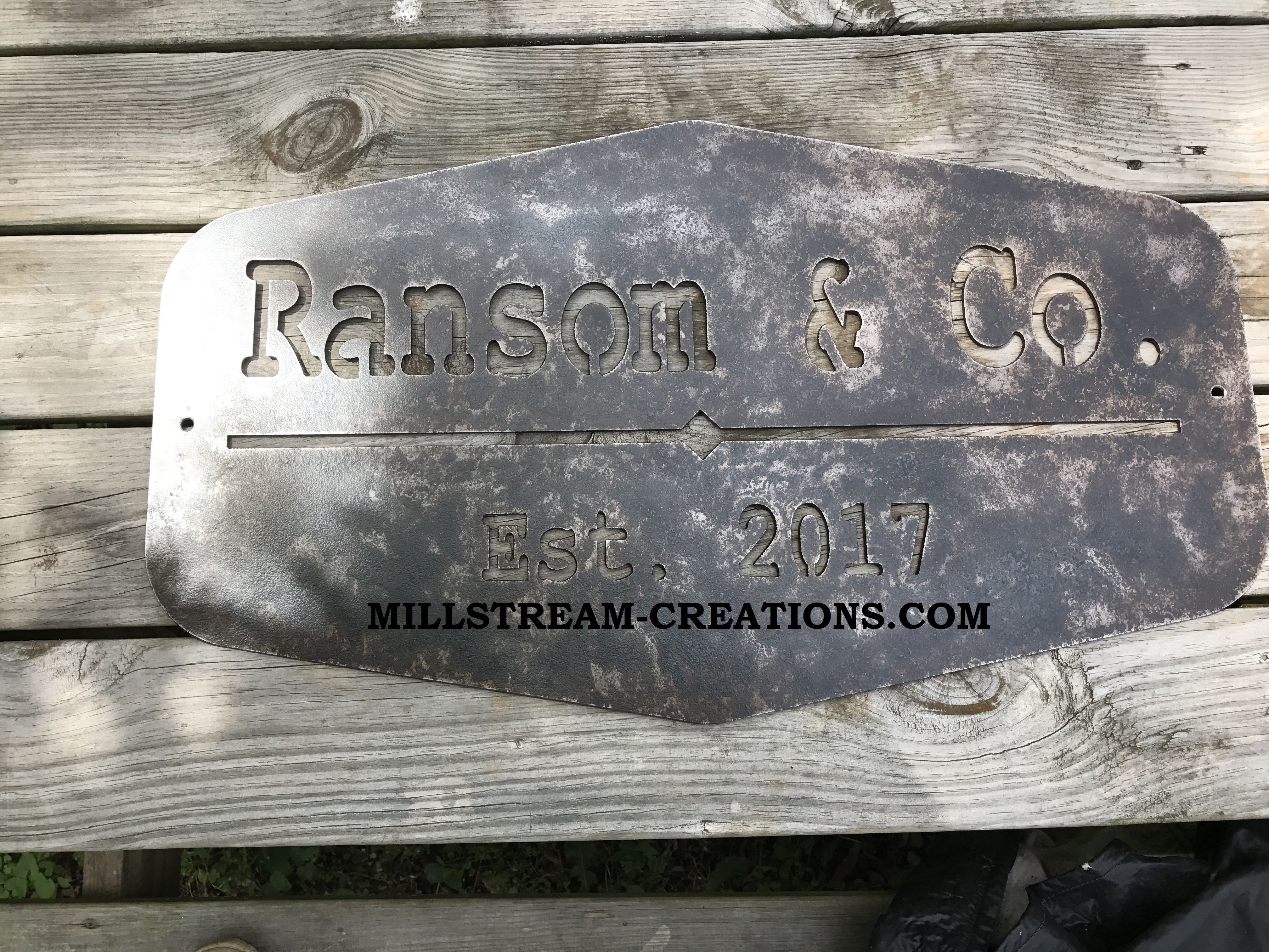 Rustic Distressed Metal Signs For Personalized Distressed Vintage Look Kitchen Metal Sign Wall Decor (Photo 22 of 30)