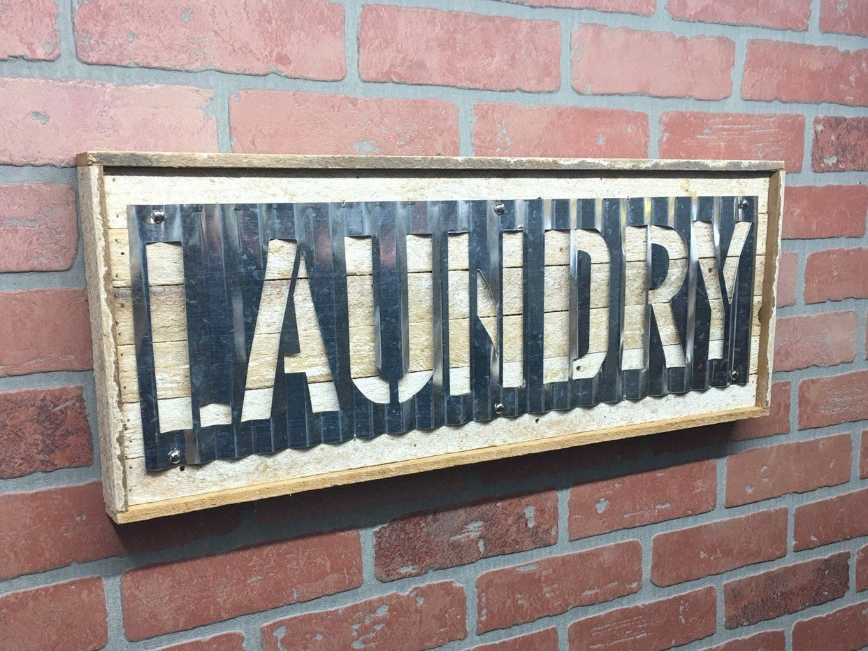 Rustic Metal Laundry Wall Decor, Metal Laundry Wall Sign On Reclaimed Wood,  Rustic Home Decor, Farmhouse Decor With Metal Laundry Room Wall Decor (Gallery 22 of 30)