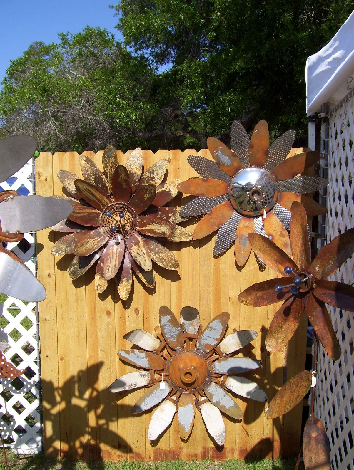 Rustic Rediscovered: Mike's Metal Flowers | For The Home Pertaining To 2 Piece Multiple Layer Metal Flower Wall Decor Sets (Gallery 19 of 30)