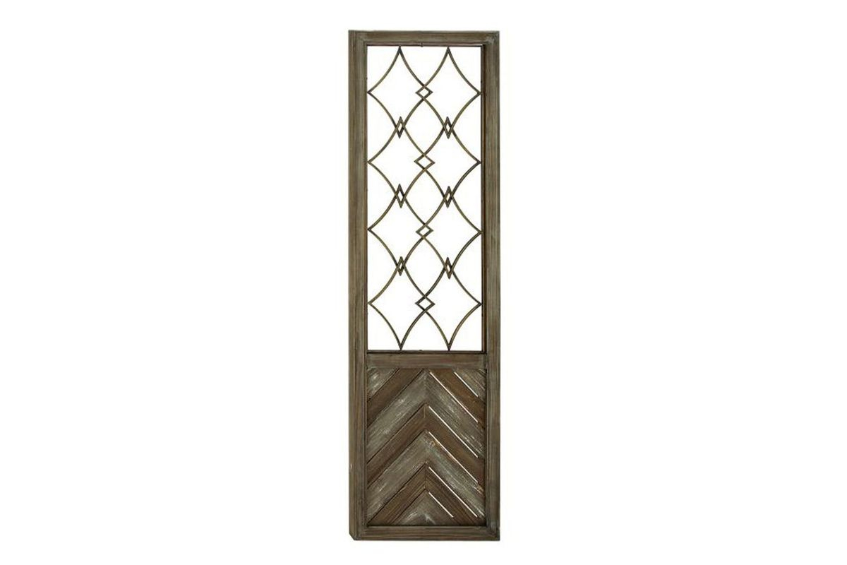 Rustic Reflections Herringbone Wall Decor In Distressed Brown regarding Brown Wood and Metal Wall Decor (Image 18 of 30)