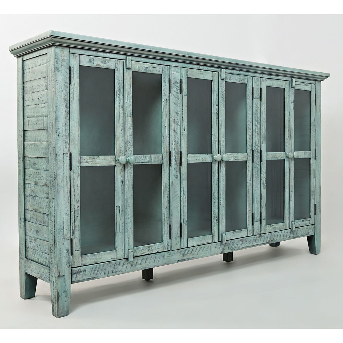 """Rustic Shores Surfside 70"""" Accent Cabinet In Distressed within Eau Claire 6 Door Accent Cabinets (Image 27 of 30)"""