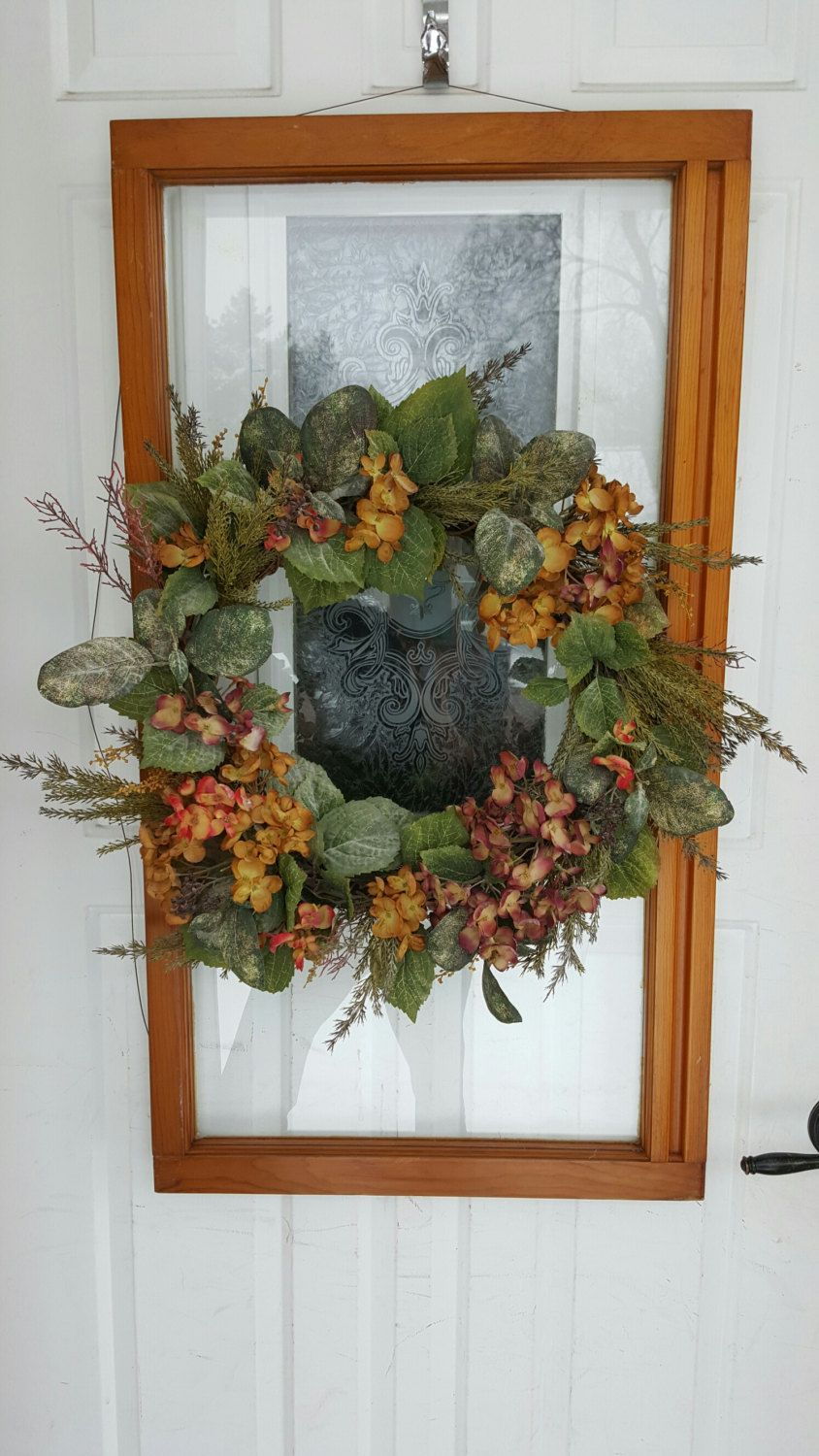 Rustic Window Pane With Gentle Pastel Natural Floral inside Old Rustic Barn Window Frame (Image 25 of 30)