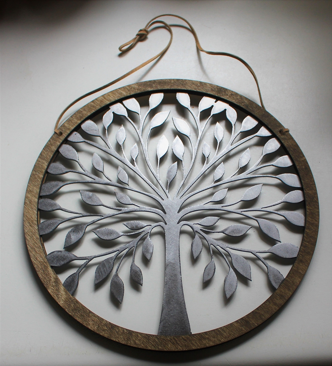 """Rustic Wood And Tree Of Life Wall Hanging Circle 10 3/4"""" For Tree Of Life Wall Decor (View 14 of 30)"""