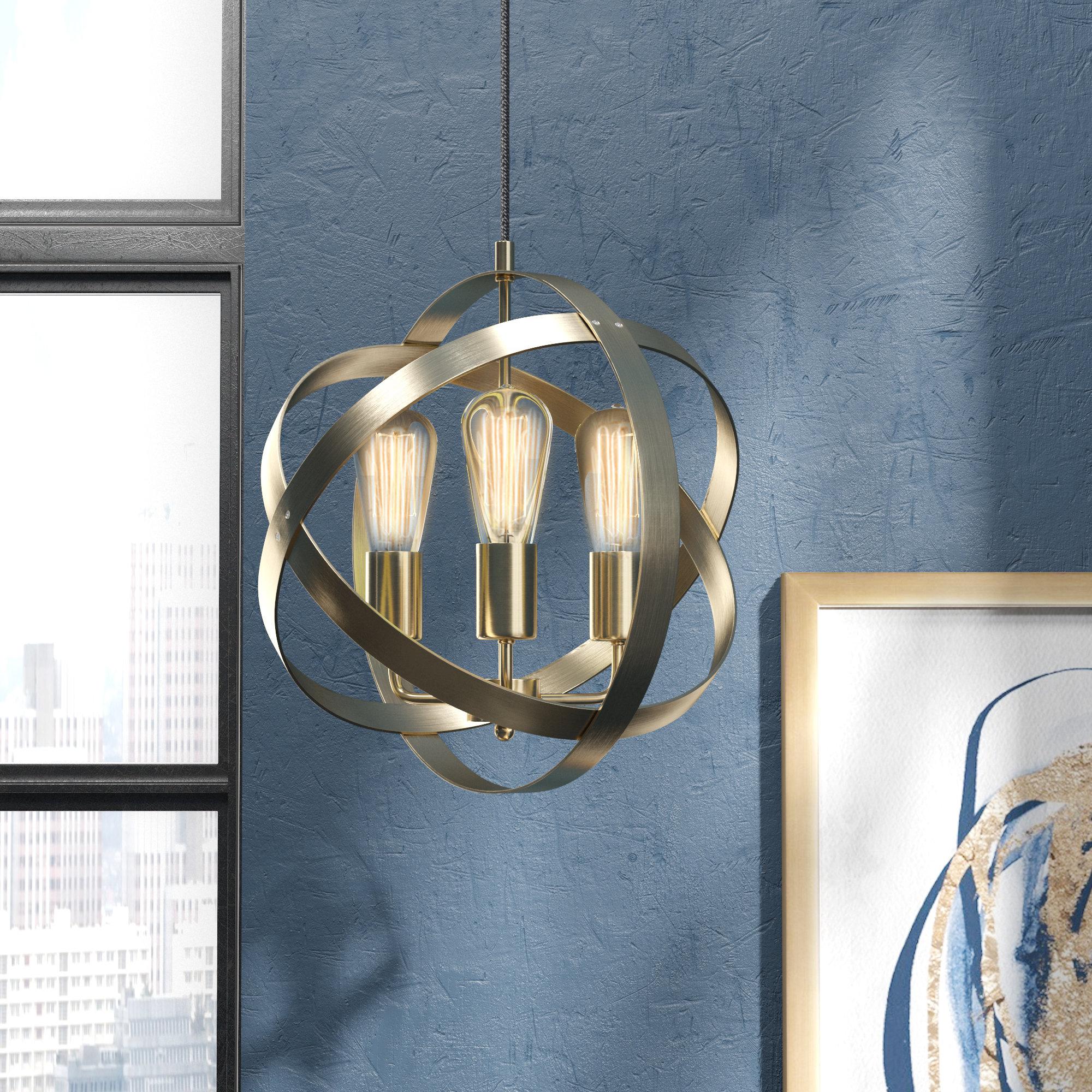 Ryann 3 Light Globe Chandelier For La Sarre 3 Light Globe Chandeliers (View 16 of 30)