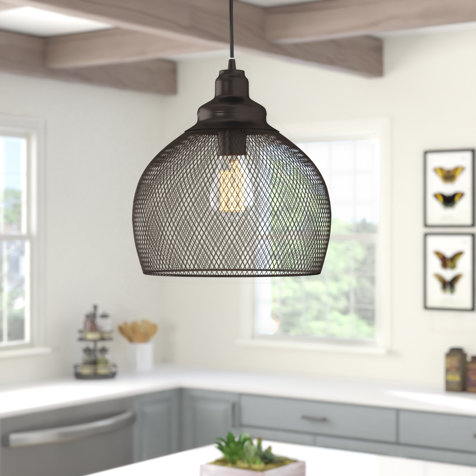 Ryant 1-Light Single Dome Pendant in 1-Light Single Dome Pendants (Image 25 of 30)