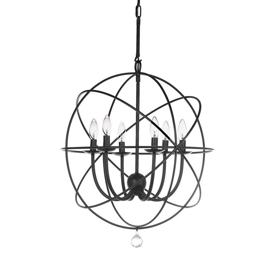 Safavieh Evie 1-Light Black Modern/contemporary Globe inside Waldron 5-Light Globe Chandeliers (Image 22 of 30)