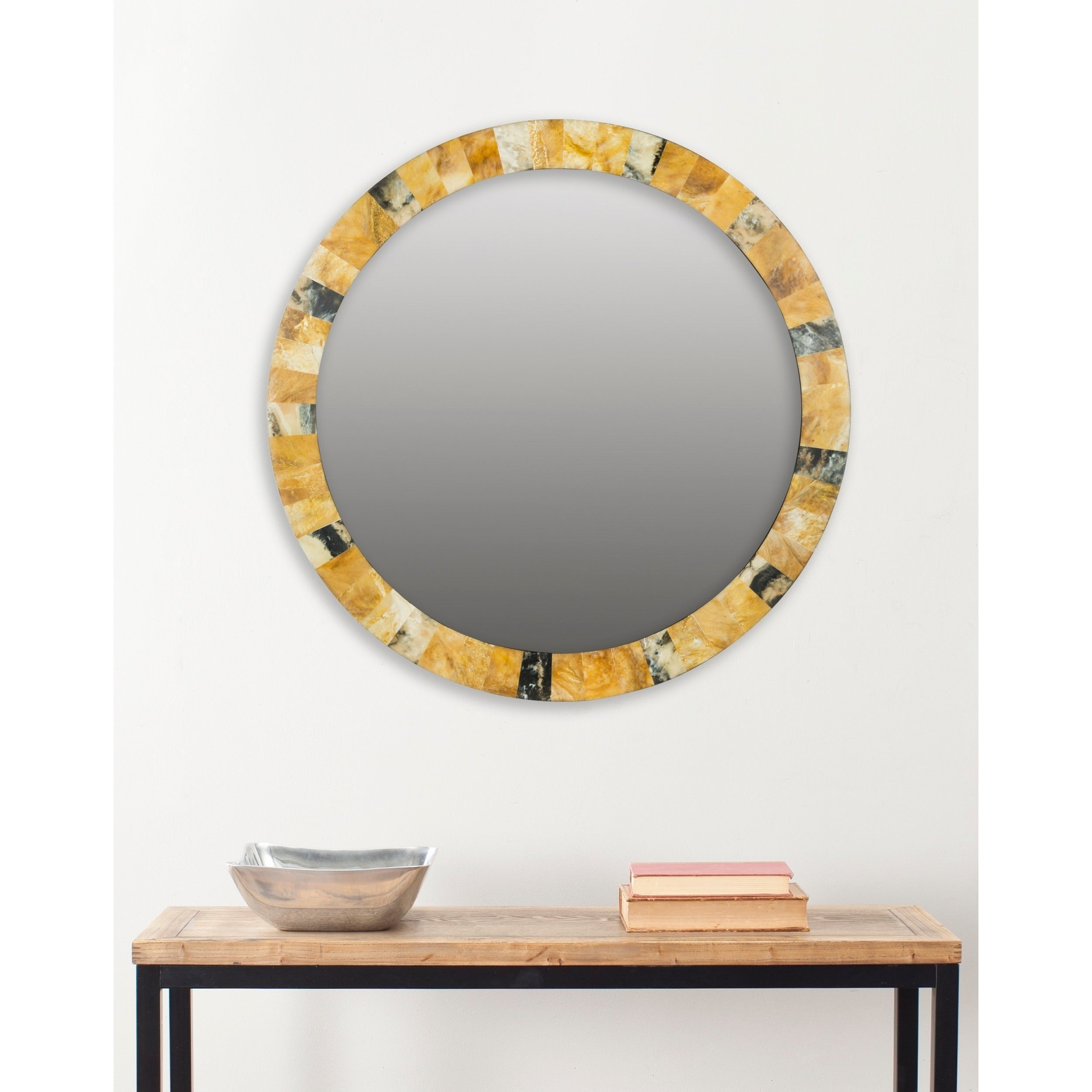 "Safavieh Lydia Artisan Multi 29-Inch Mirror - 29"" X 29"" X 0.8"" with Lidya Frameless Beveled Wall Mirrors (Image 26 of 30)"