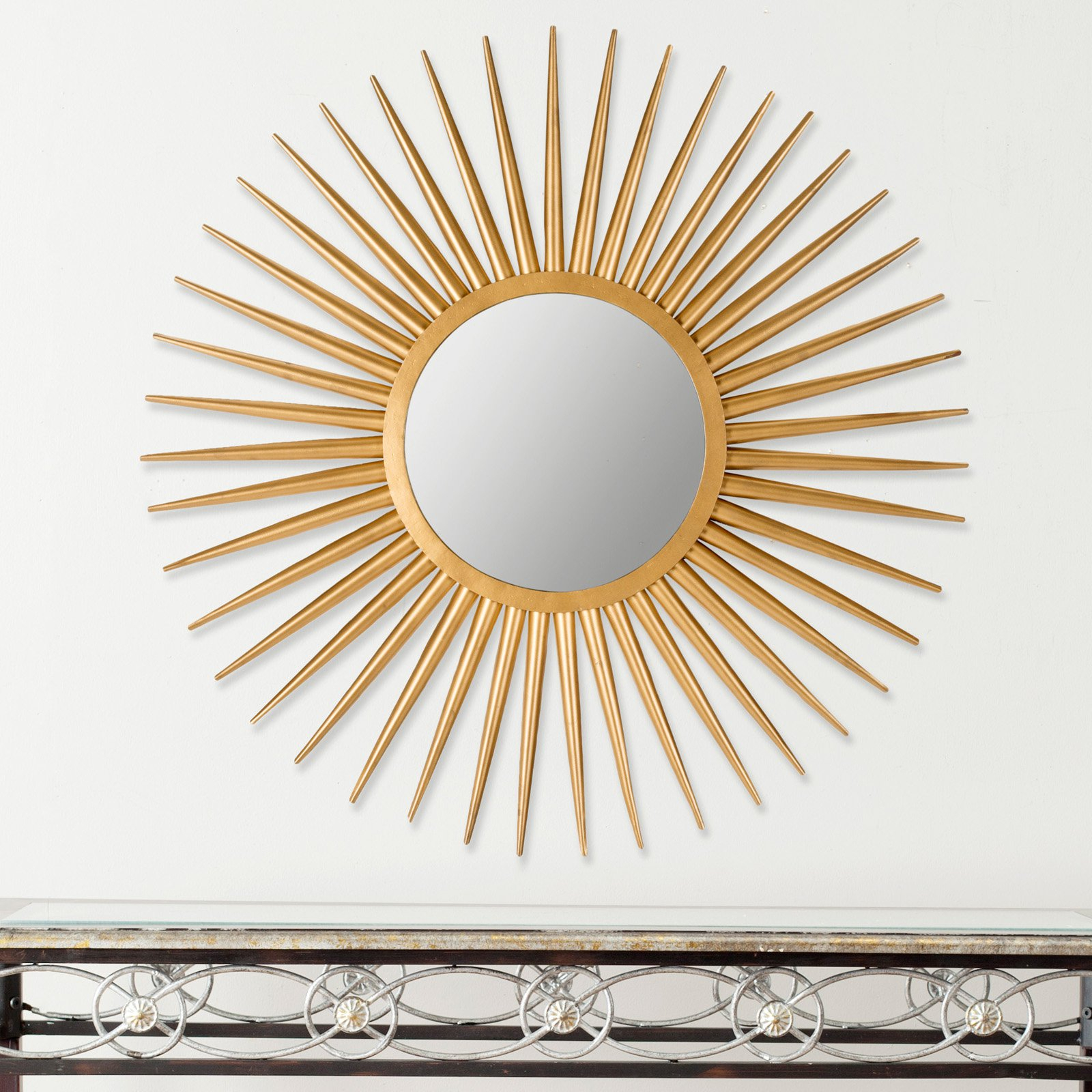 Safavieh Sun Flair Metal Wall Mirror – 36w X 36h In (View 15 of 30)
