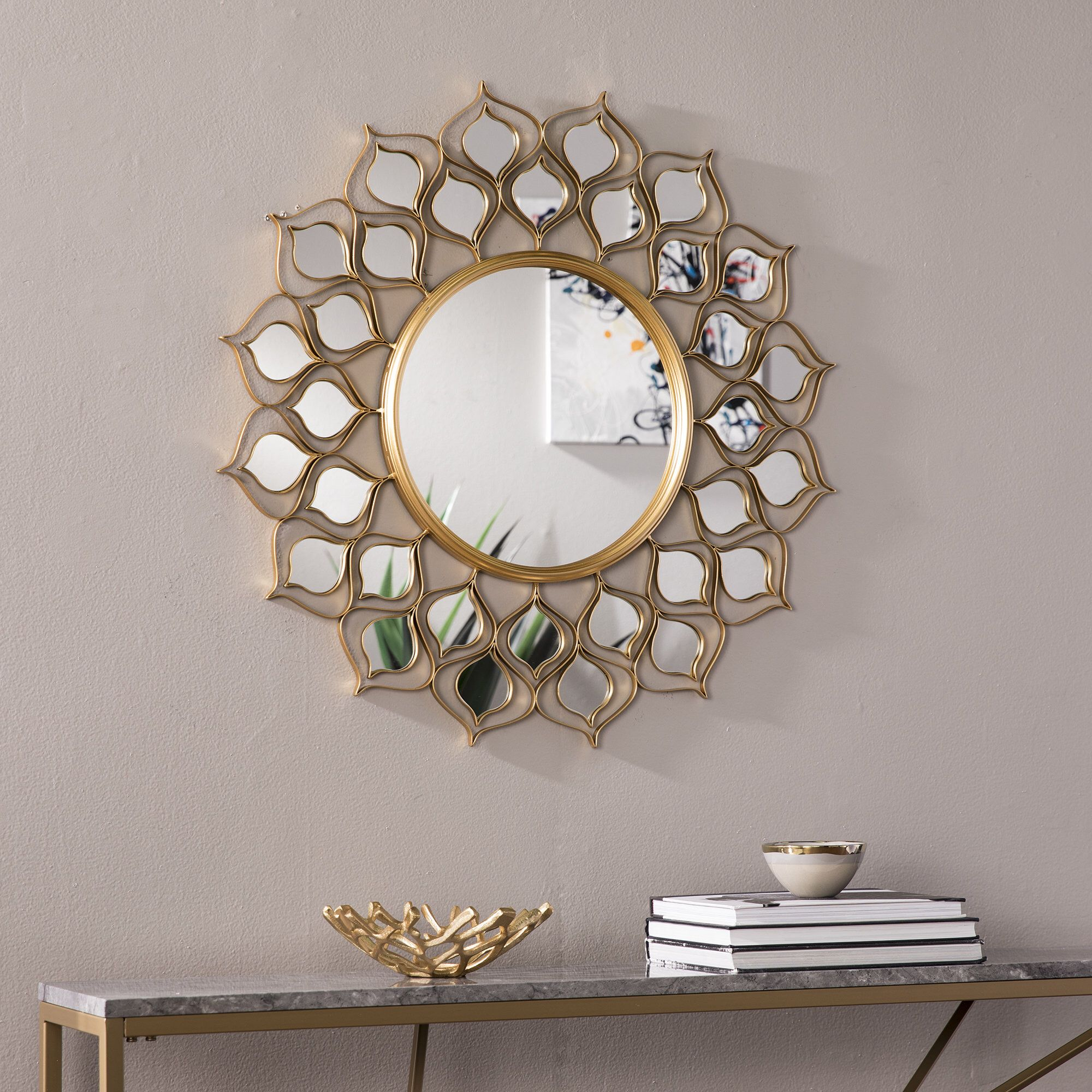 Salas Accent Mirror In 2019 | I2 B7 Teen's Islamic Bedroom for Kentwood Round Wall Mirrors (Image 28 of 30)